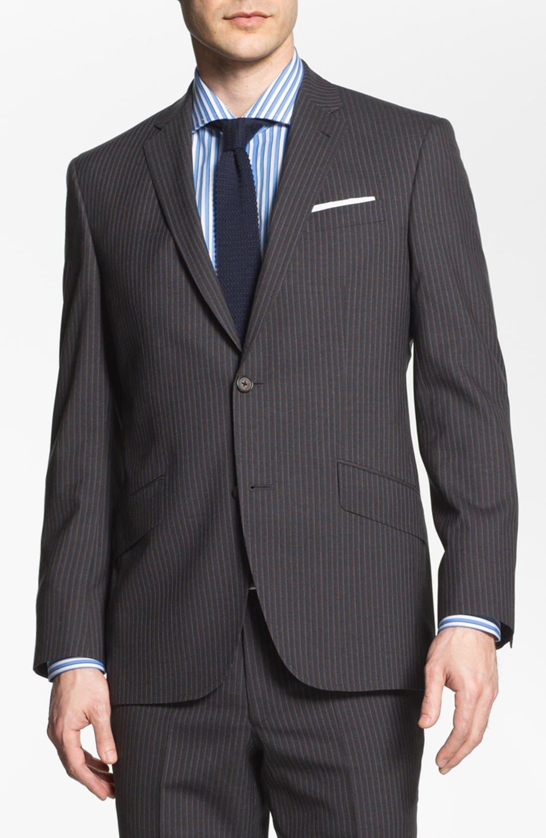 Main Image - Ted Baker London Trim Fit Stripe Suit