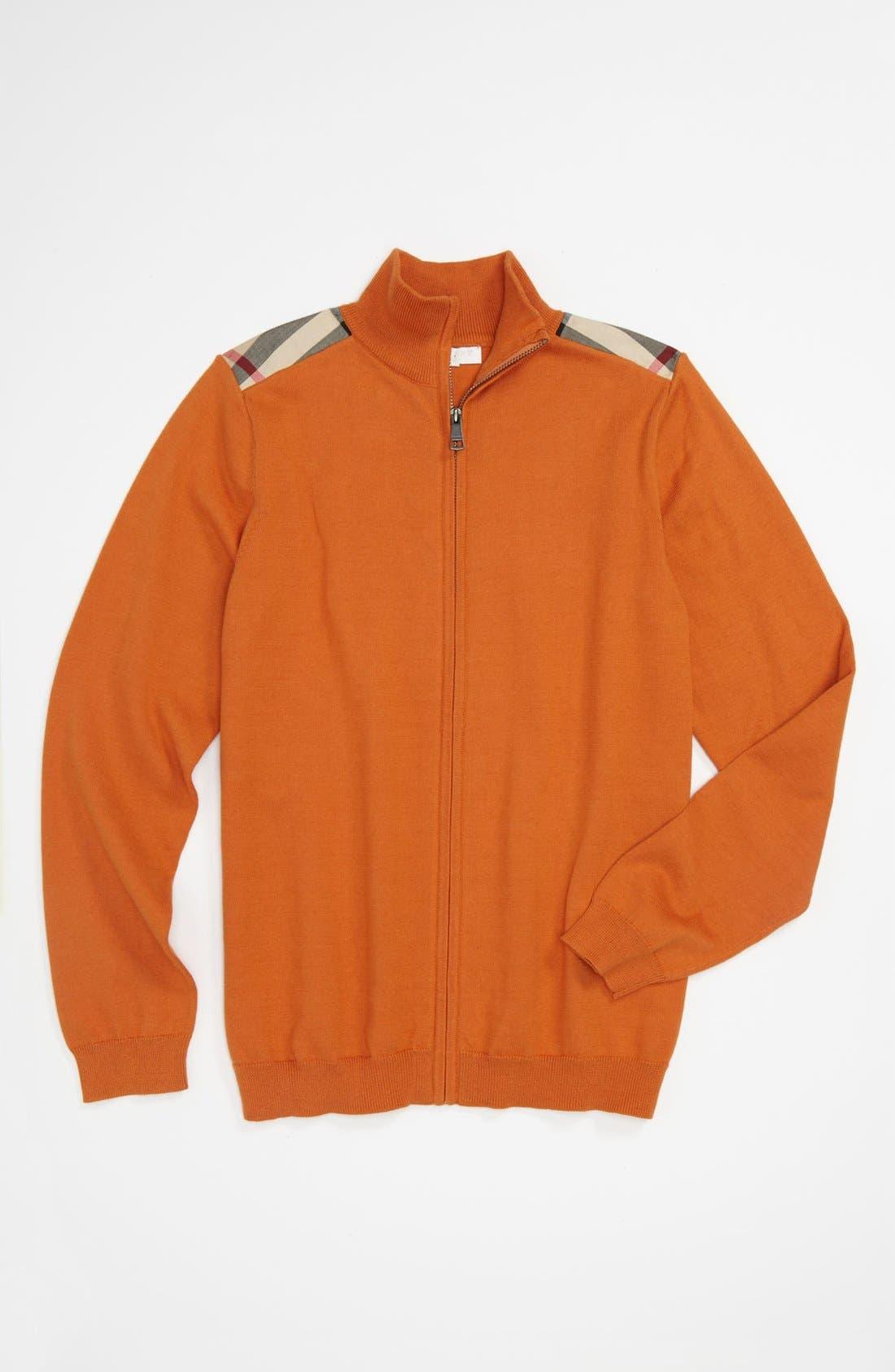 Alternate Image 1 Selected - Burberry Full Zip Sweater (Little Boys & Big Boys)