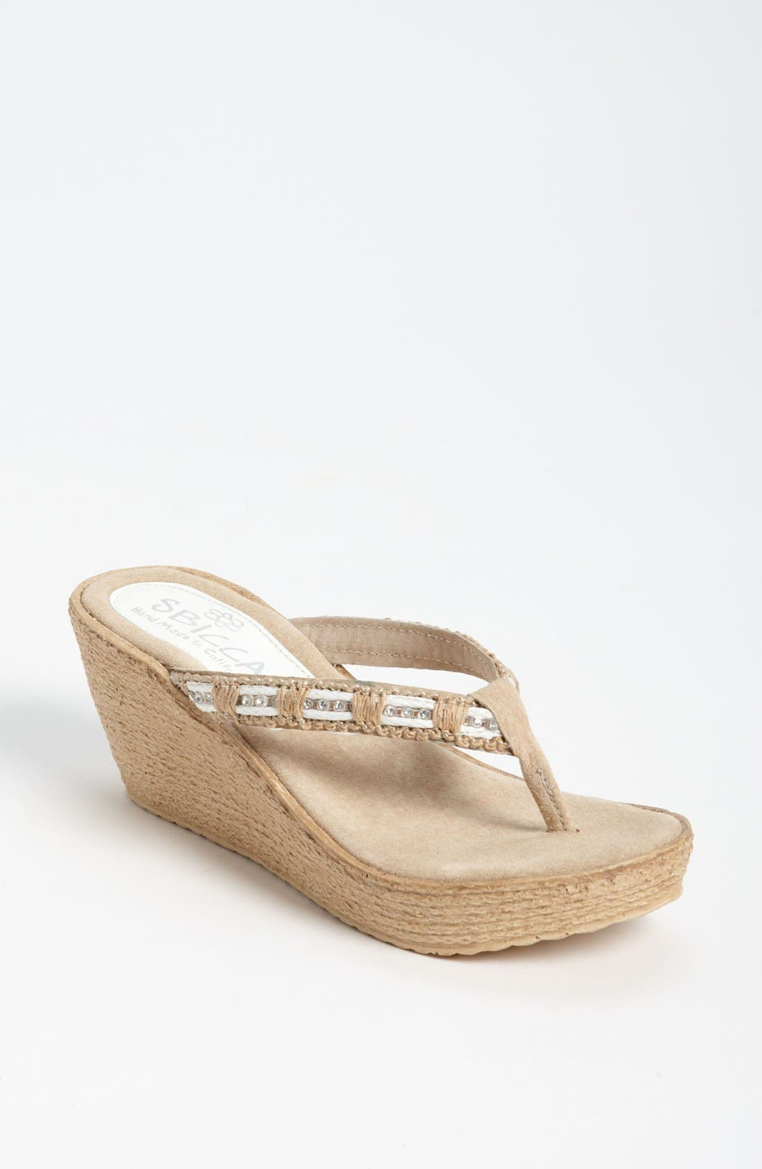 Alternate Image 1 Selected - Sbicca 'Cora' Wedge Sandal