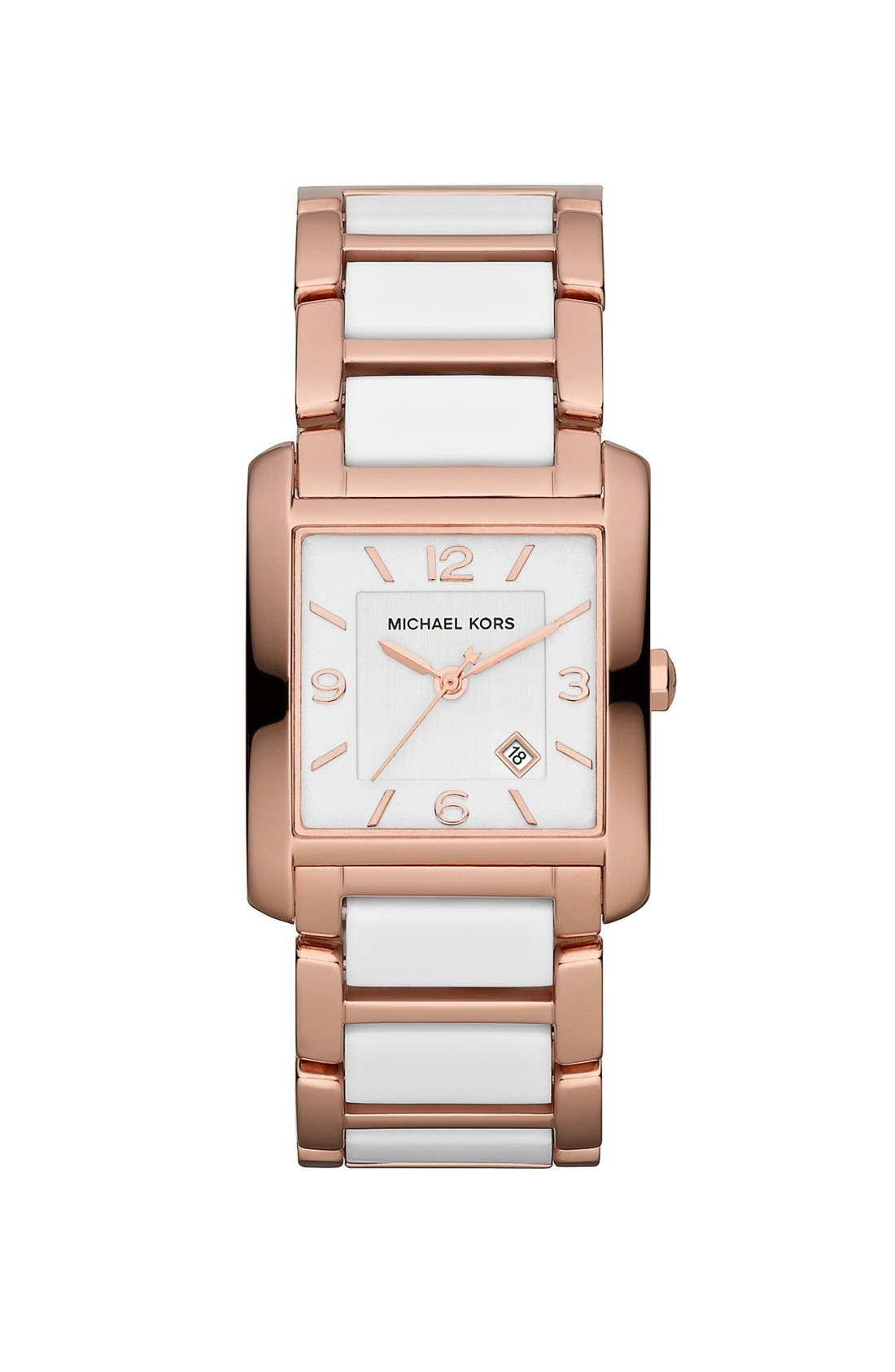 Main Image - Michael Kors 'Frenchy' Rectangular Bracelet Watch, 26mm x 29mm