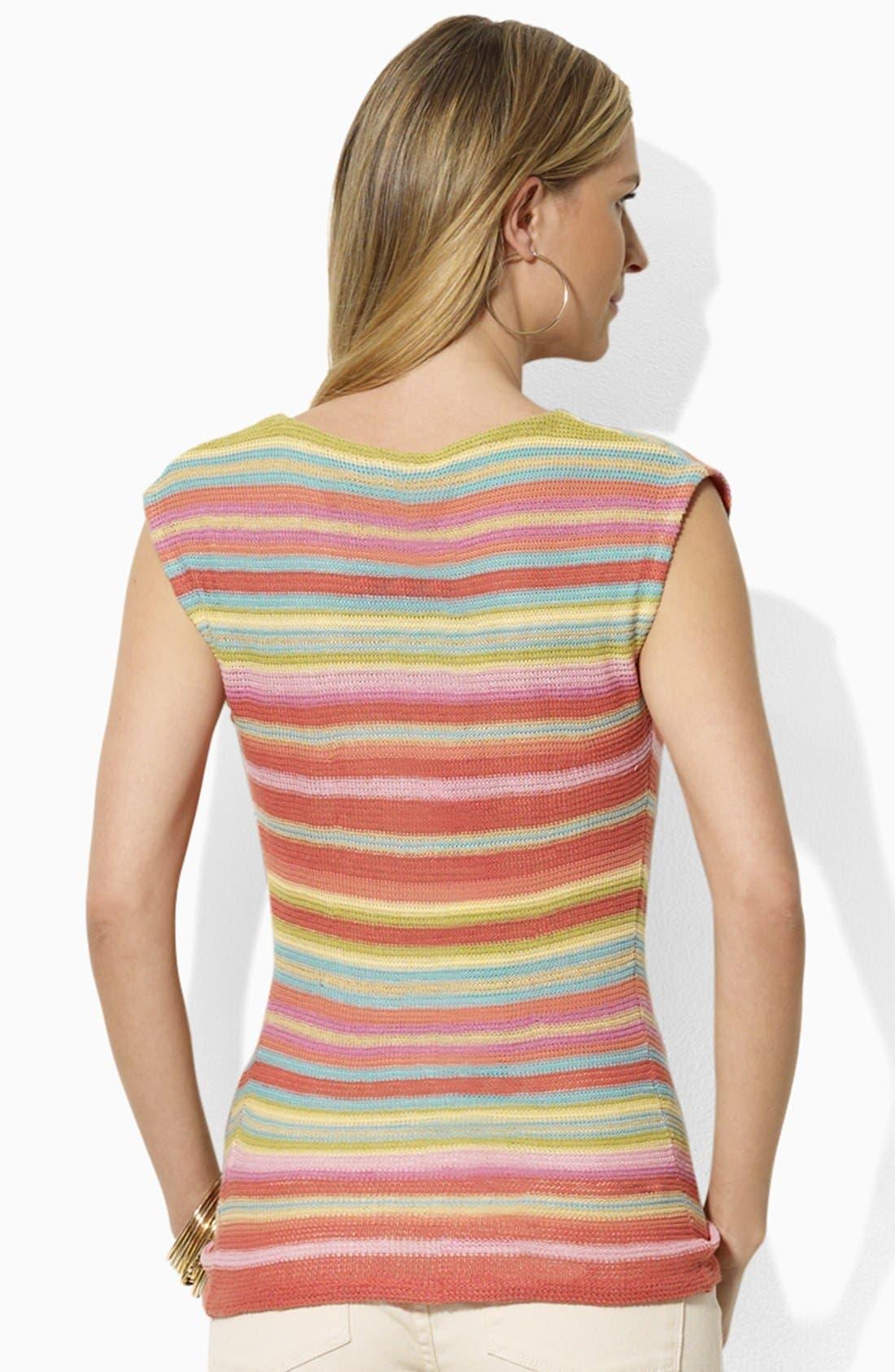 Alternate Image 2  - Lauren Ralph Lauren Drop Shoulder Stripe Sweater