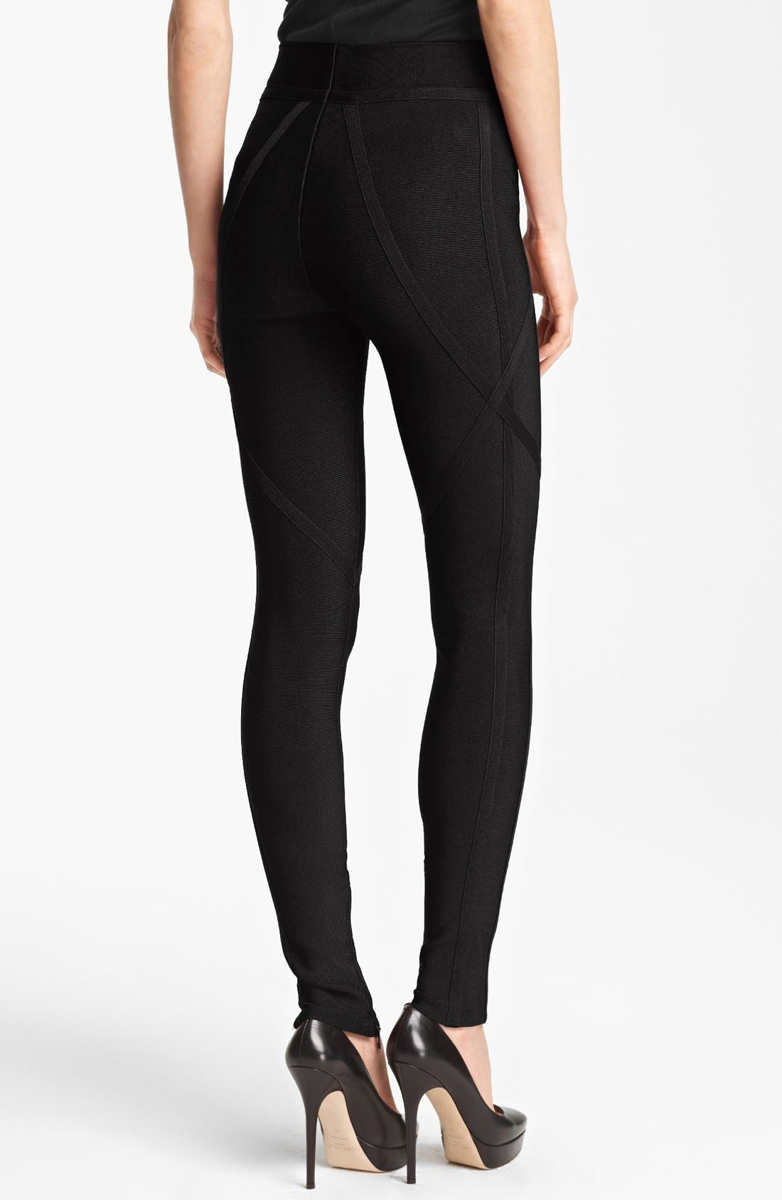 Alternate Image 2  - Herve Leger Leggings