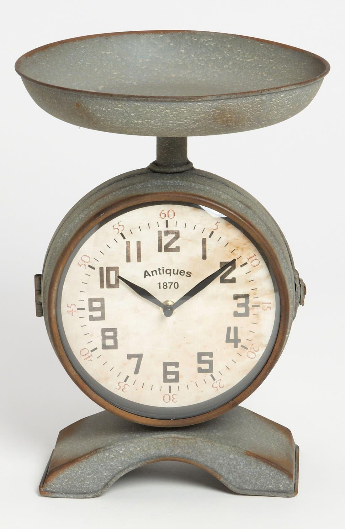 Alternate Image 1 Selected - Burnished Vintage Scale Clock