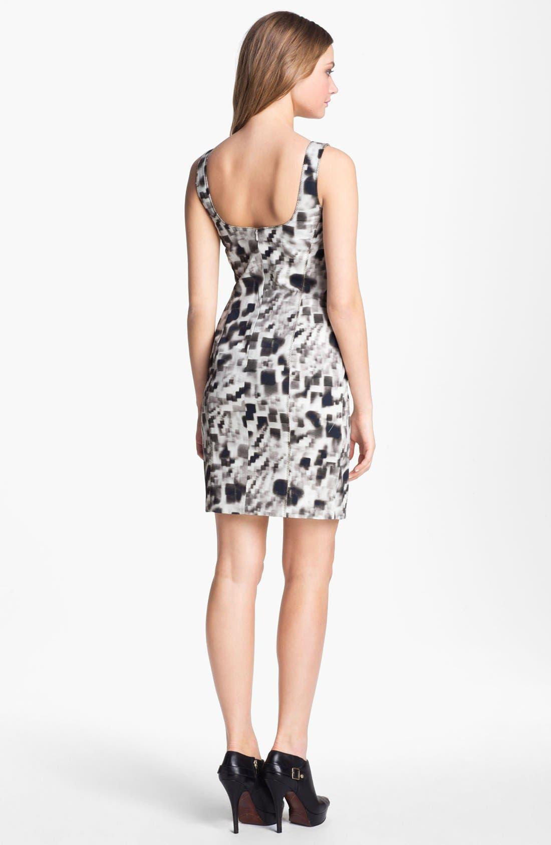 Alternate Image 2  - Nicole Miller Print Sheath Dress