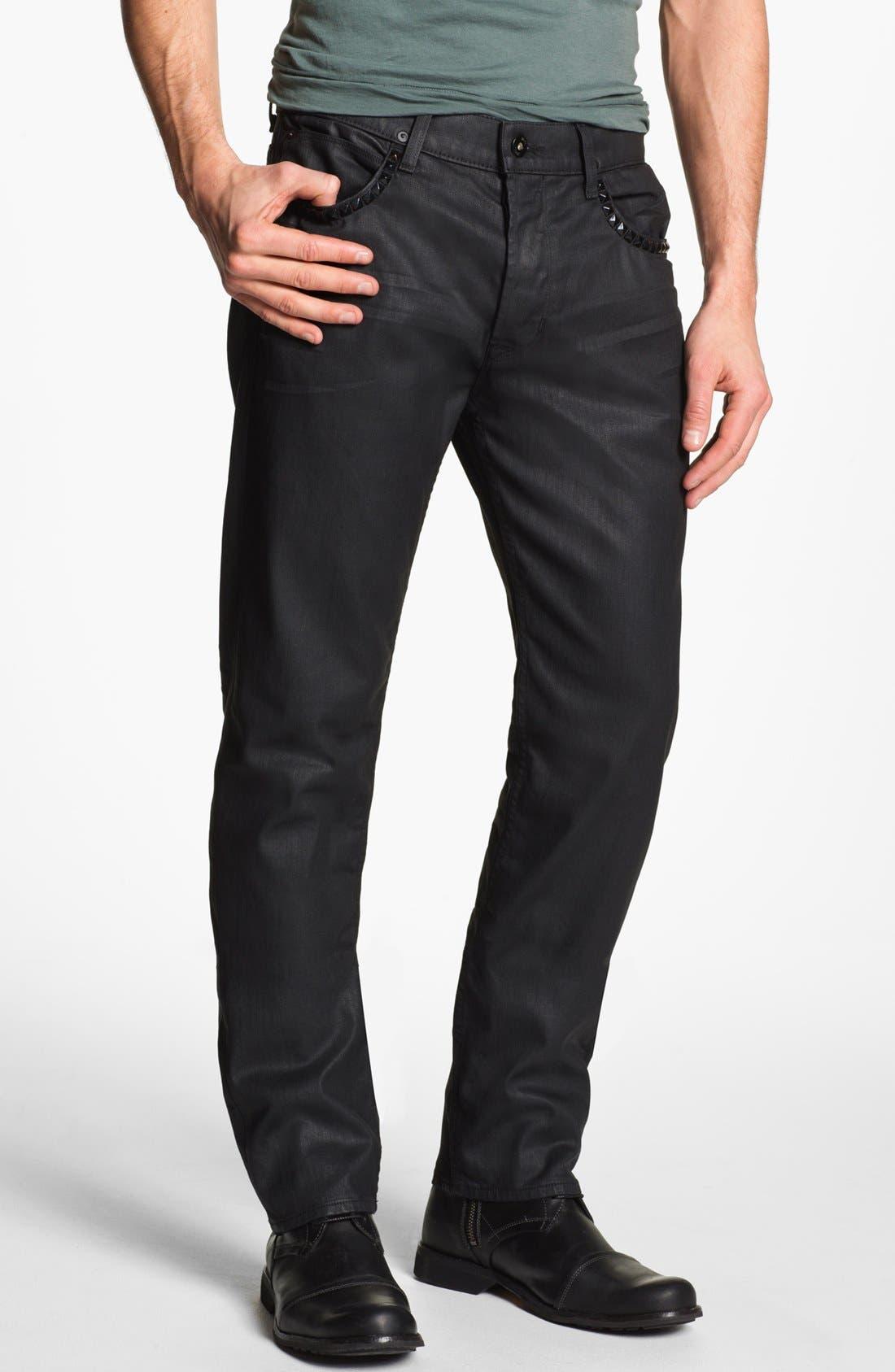 Alternate Image 2  - Hudson Jeans 'Dandy' Slouchy Straight Leg Jeans (Tar)