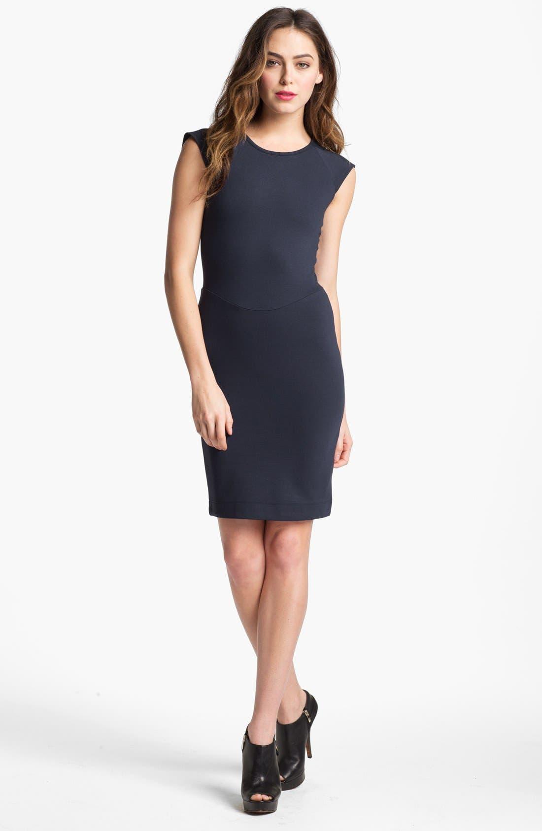 Alternate Image 1  - French Connection 'Dani' Lace Back Jersey Dress