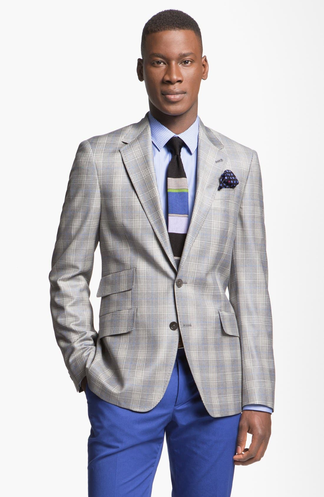 Main Image - Paul Smith London Slim Fit Glen Plaid Wool Jacket