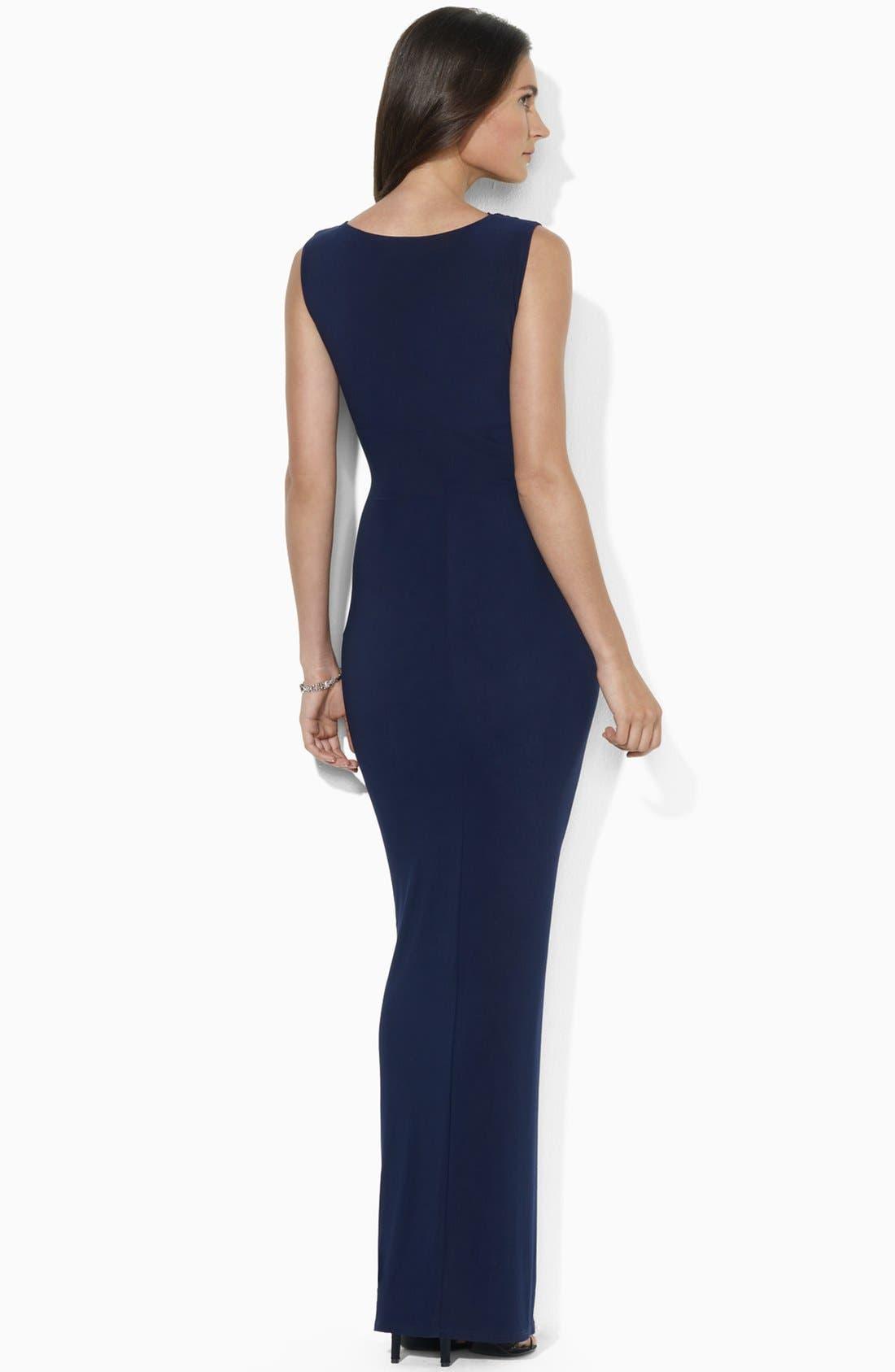 Alternate Image 2  - Lauren Ralph Lauren Embellished Jersey Gown