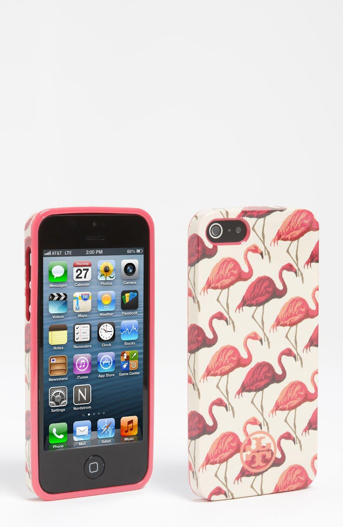 Alternate Image 1 Selected - Tory Burch 'Flamingo' iPhone 5 Case