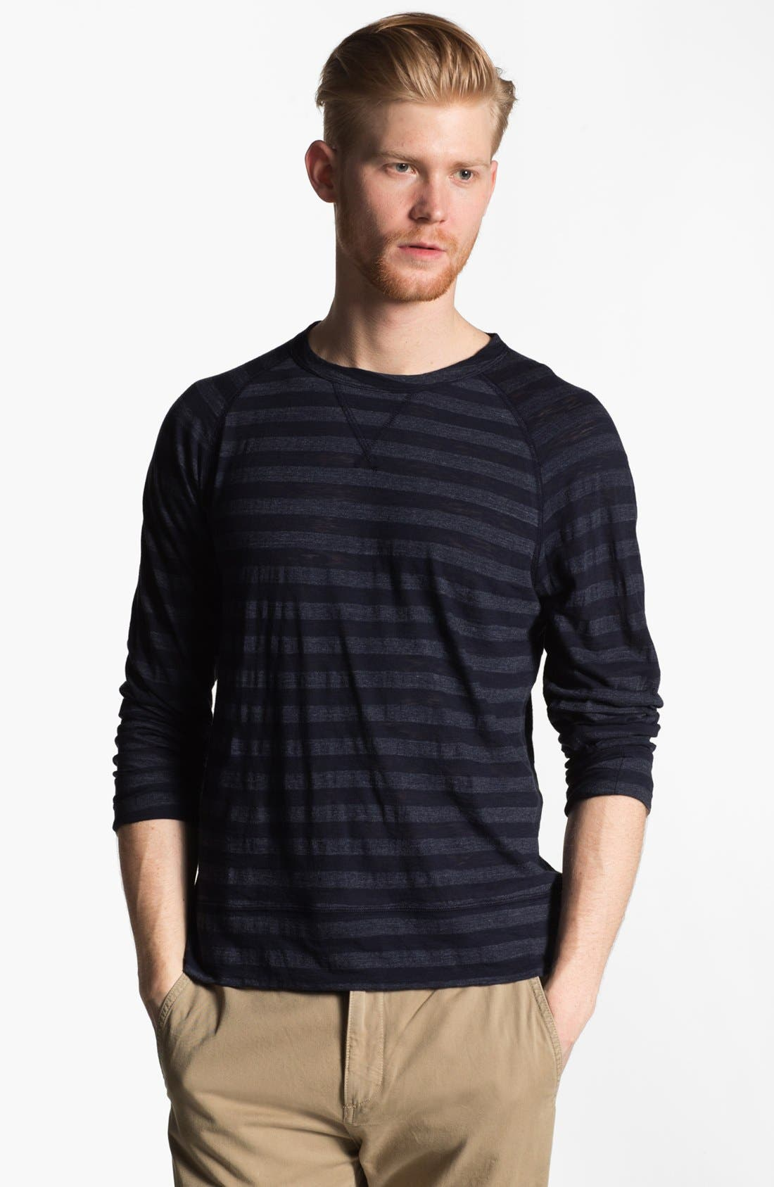 Alternate Image 1 Selected - Todd Snyder Stripe Raglan Long Sleeve T-Shirt