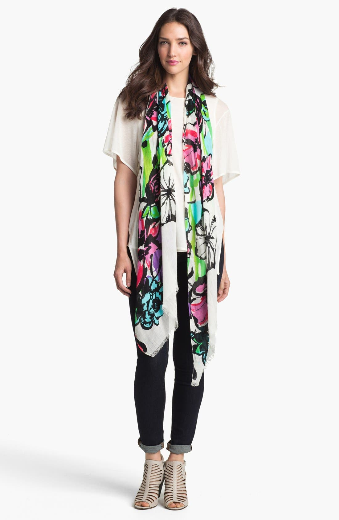 Main Image - Made of Me Accessories 'Forget Me Not Floral' Scarf