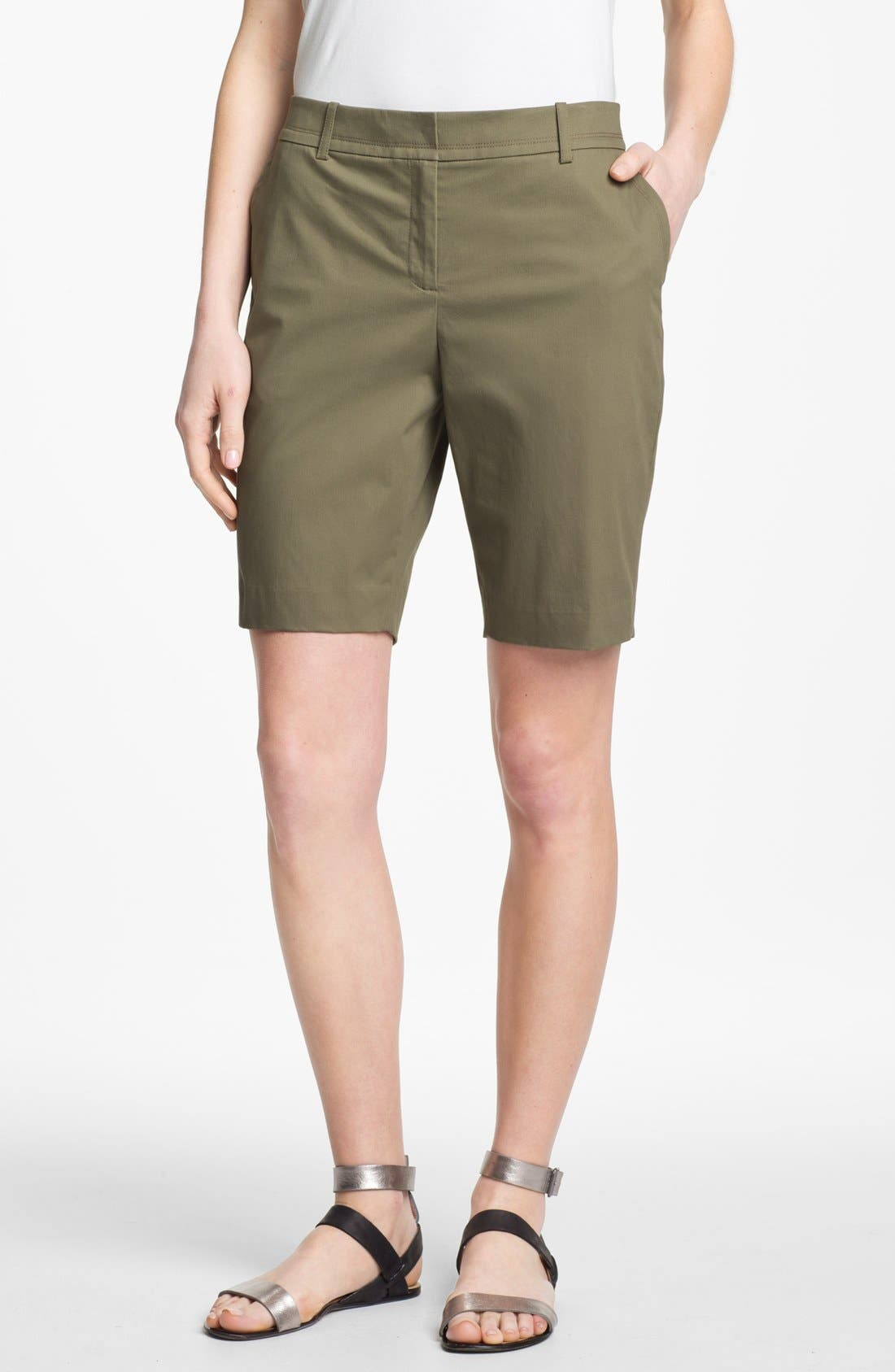Main Image - Lafayette 148 New York Stretch Cotton Bermuda Shorts