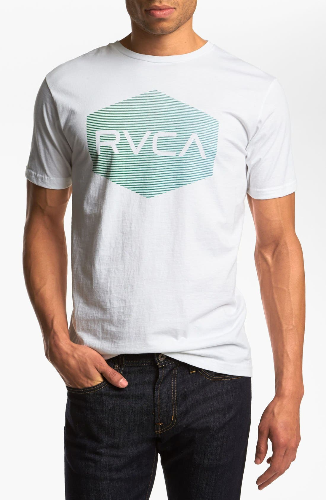 Alternate Image 1 Selected - RVCA 'Halftone Hex' T-Shirt