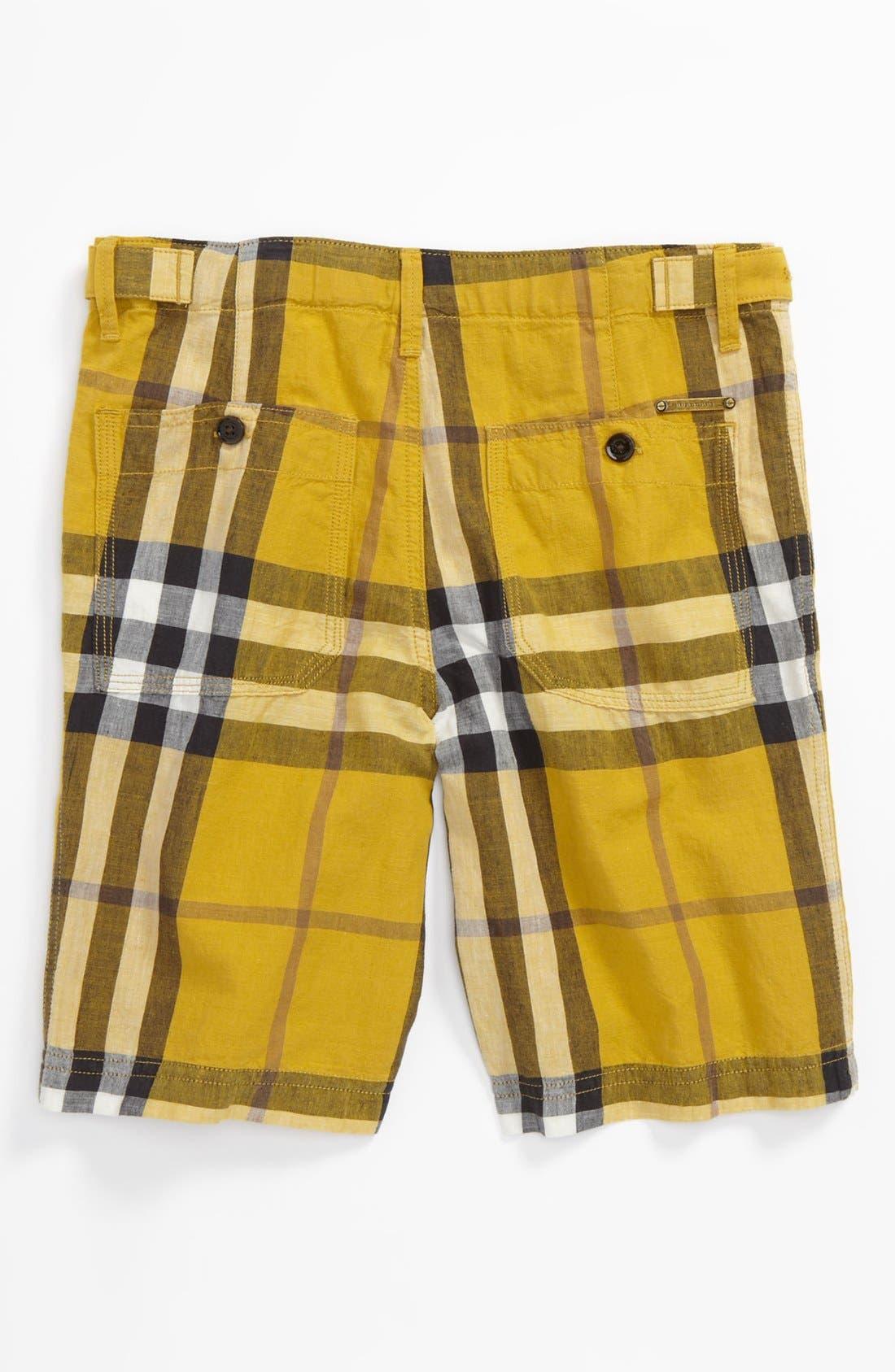 Alternate Image 2  - Burberry 'Mini Workwear' Shorts (Little Boys & Big Boys)