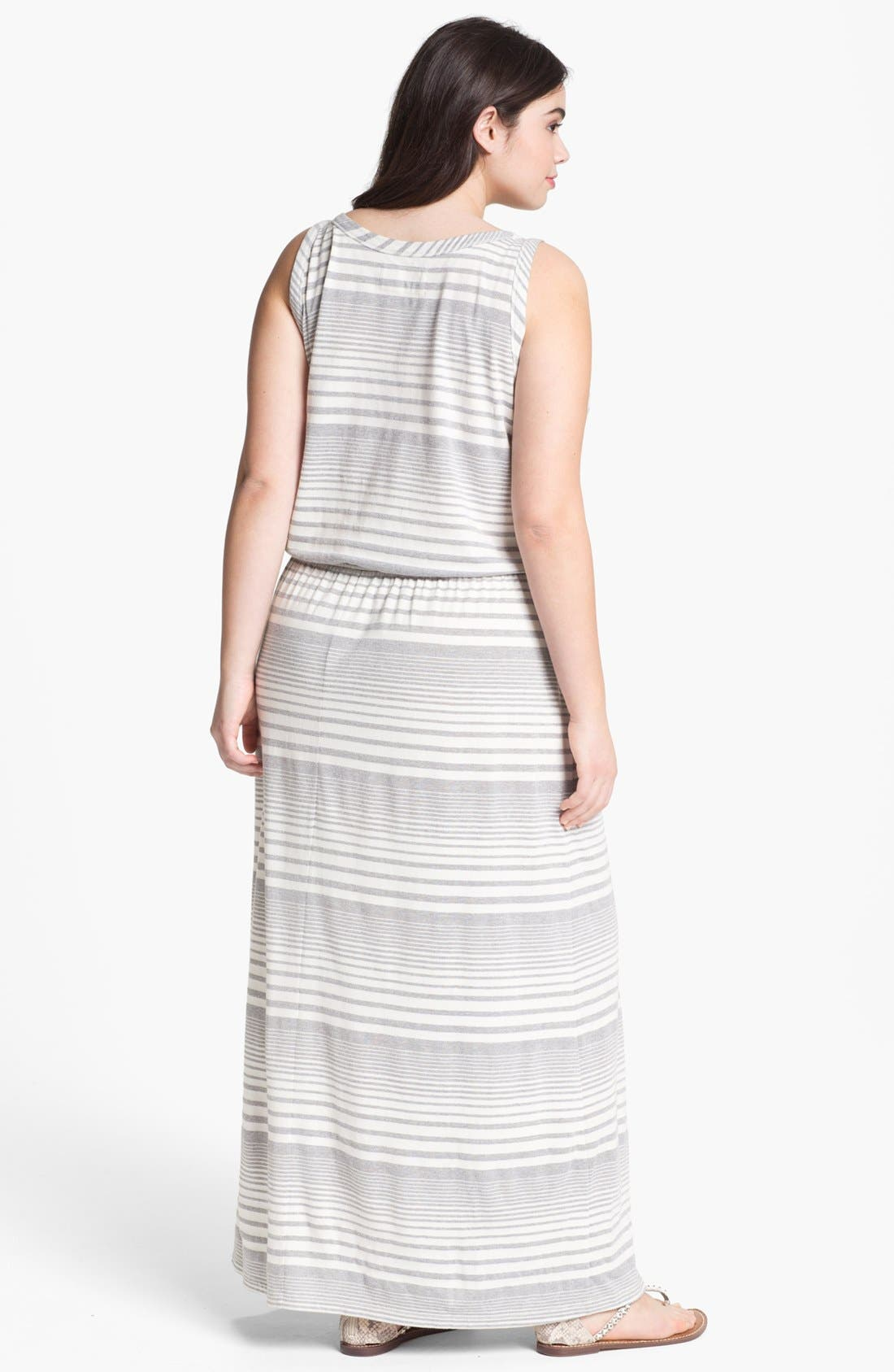 Alternate Image 2  - Two by Vince Camuto Stripe Maxi Dress (Plus Size)