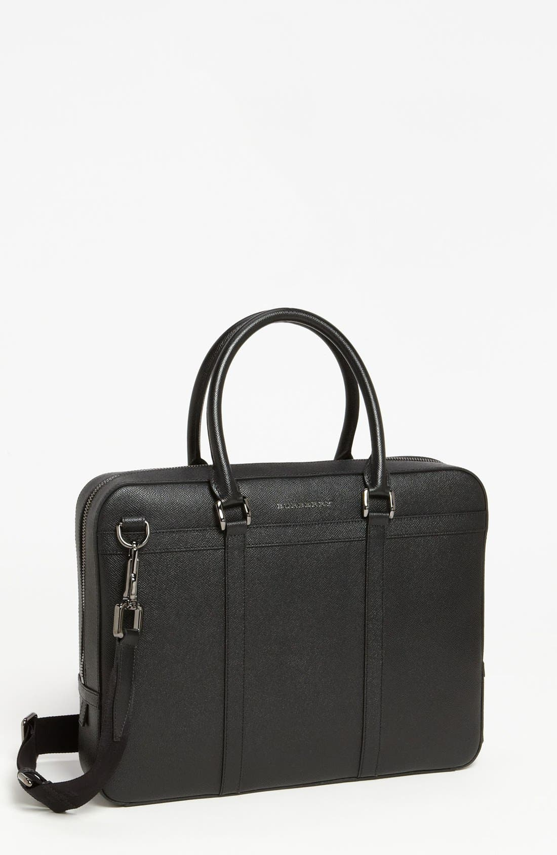 Main Image - Burberry 'Ormond' Leather Briefcase