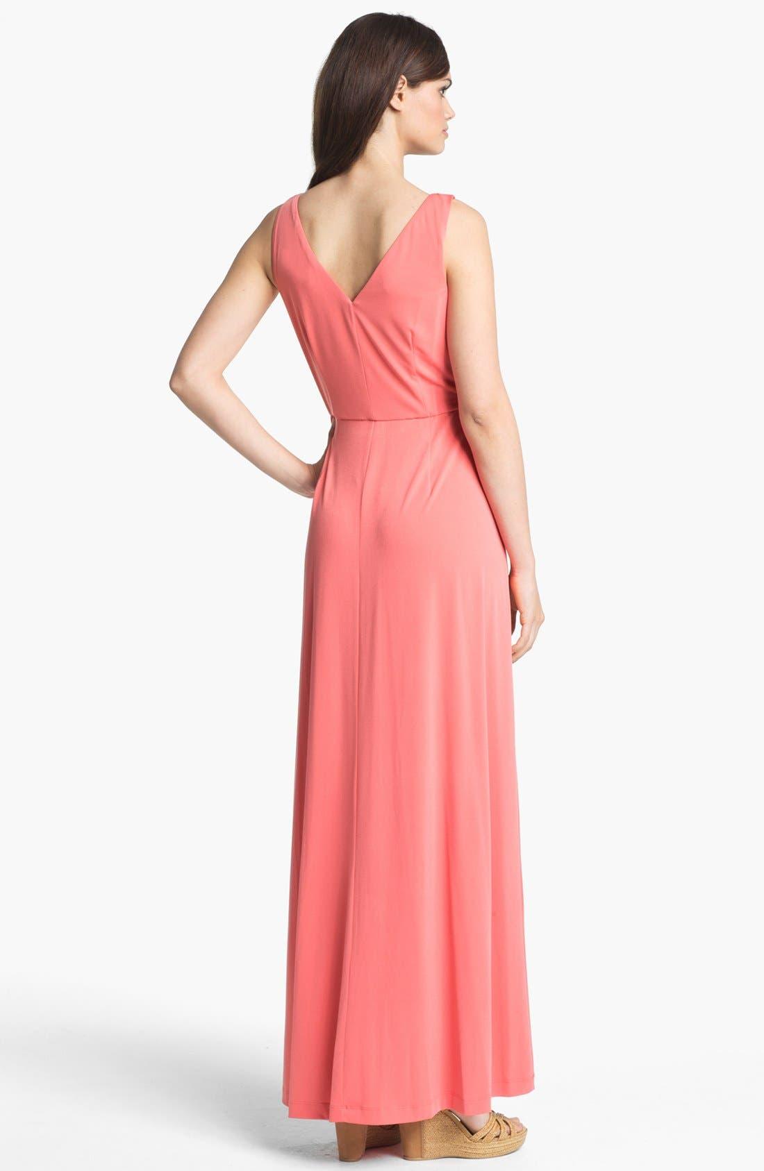 Alternate Image 2  - Suzi Chin for Maggy Boutique Tie Front Maxi Dress