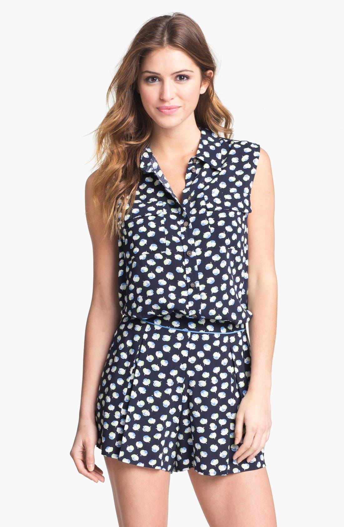 Main Image - Two by Vince Camuto Sleeveless Floral Shirt