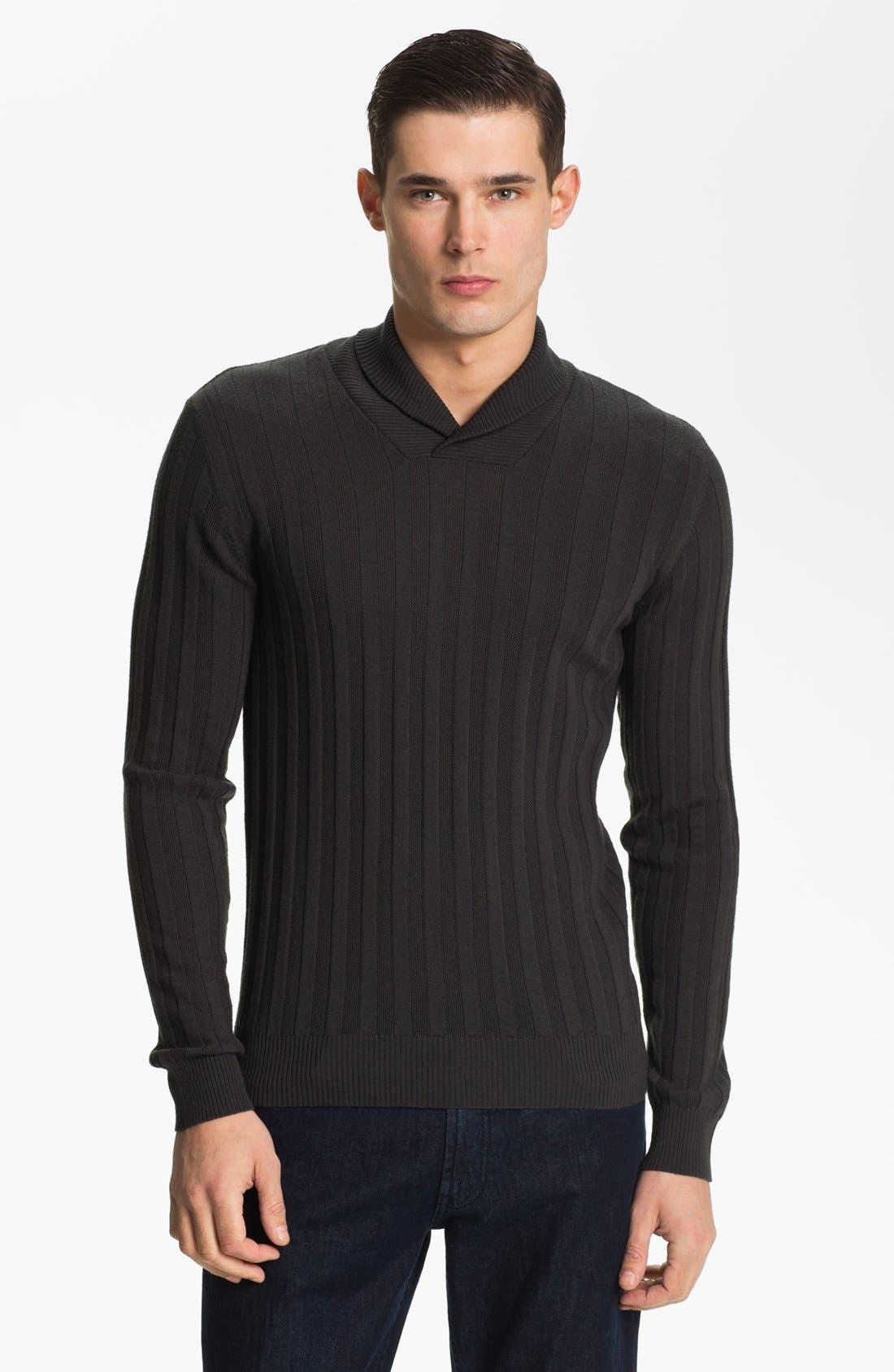Alternate Image 1 Selected - Armani Collezioni Shawl Collar Sweater