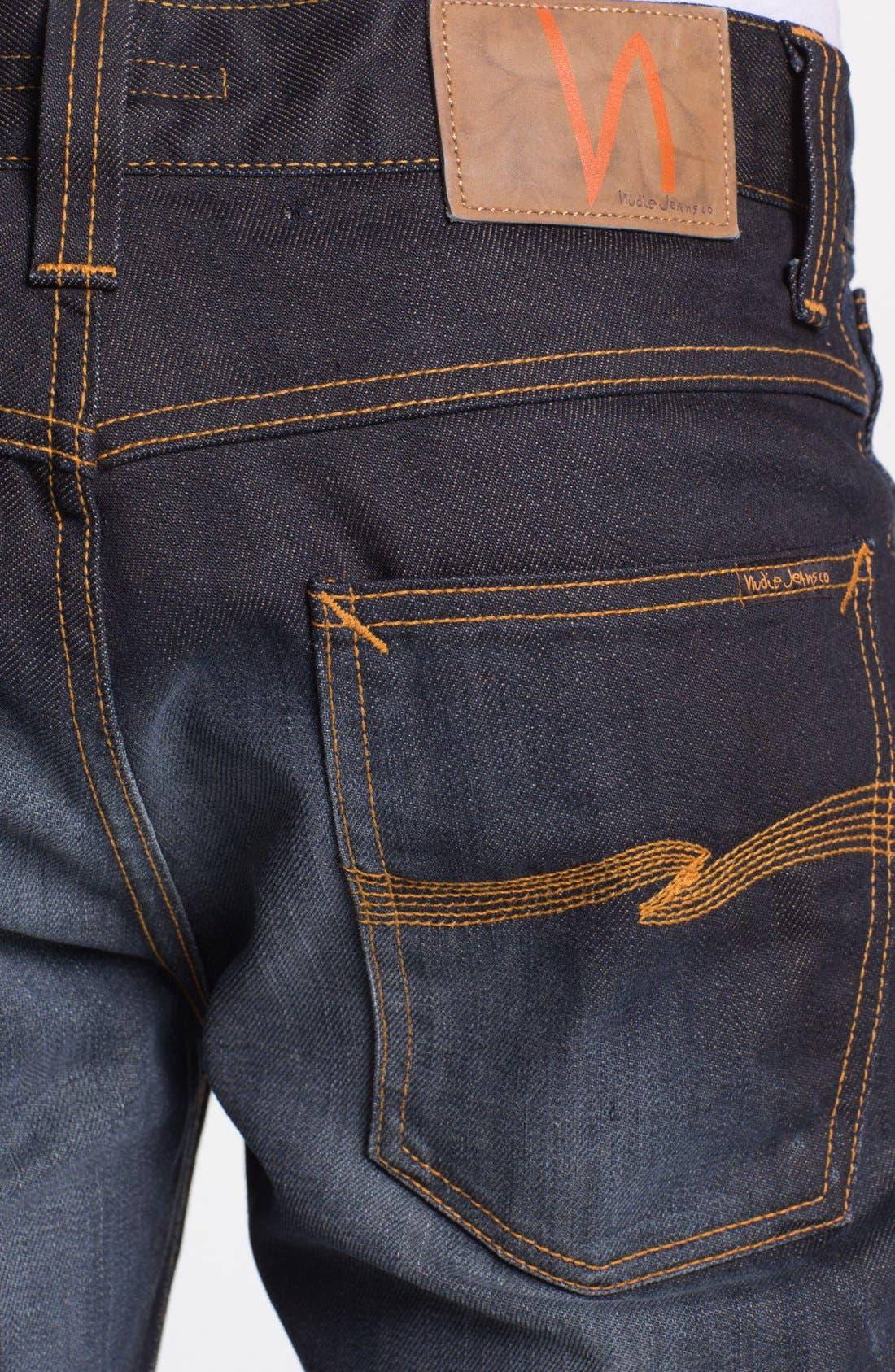Alternate Image 4  - Nudie Jeans 'Average Joe' Straight Leg Jeans (Organic Steve Replica)