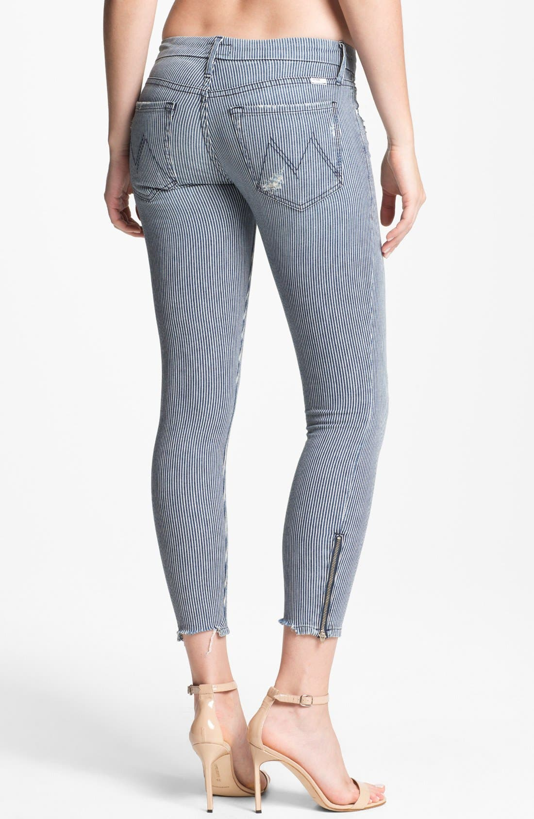 Alternate Image 2  - MOTHER 'The Looker' Skinny Stretch Jeans (On The Road Destroyed)
