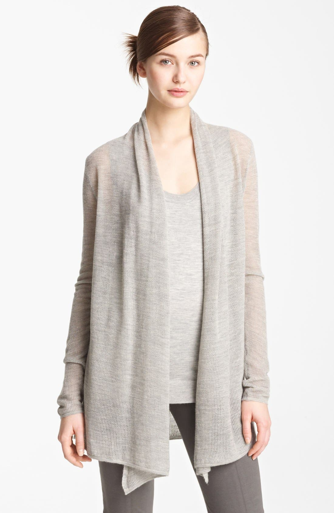 Alternate Image 1 Selected - Donna Karan Collection Drape Front Cashmere Cozy