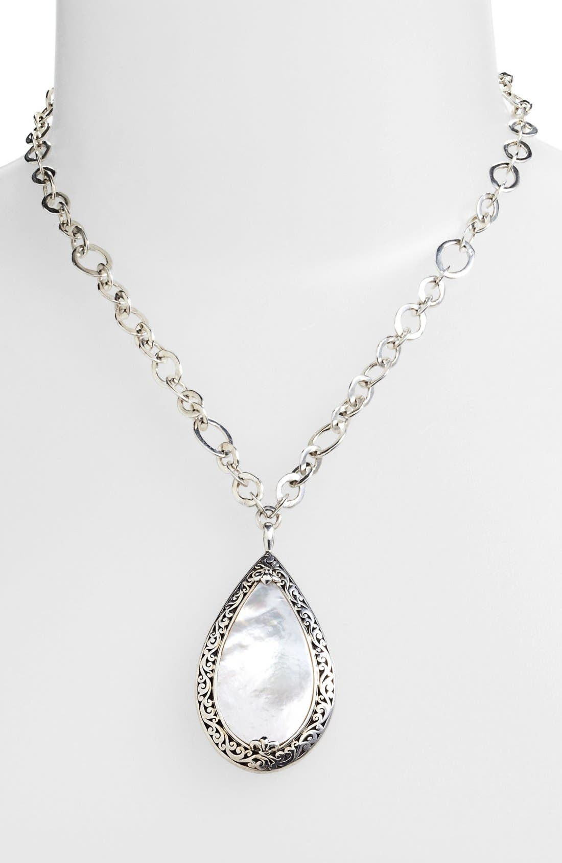 Alternate Image 1 Selected - Lois Hill Large Mother-of-Pearl Teardrop Pendant Necklace