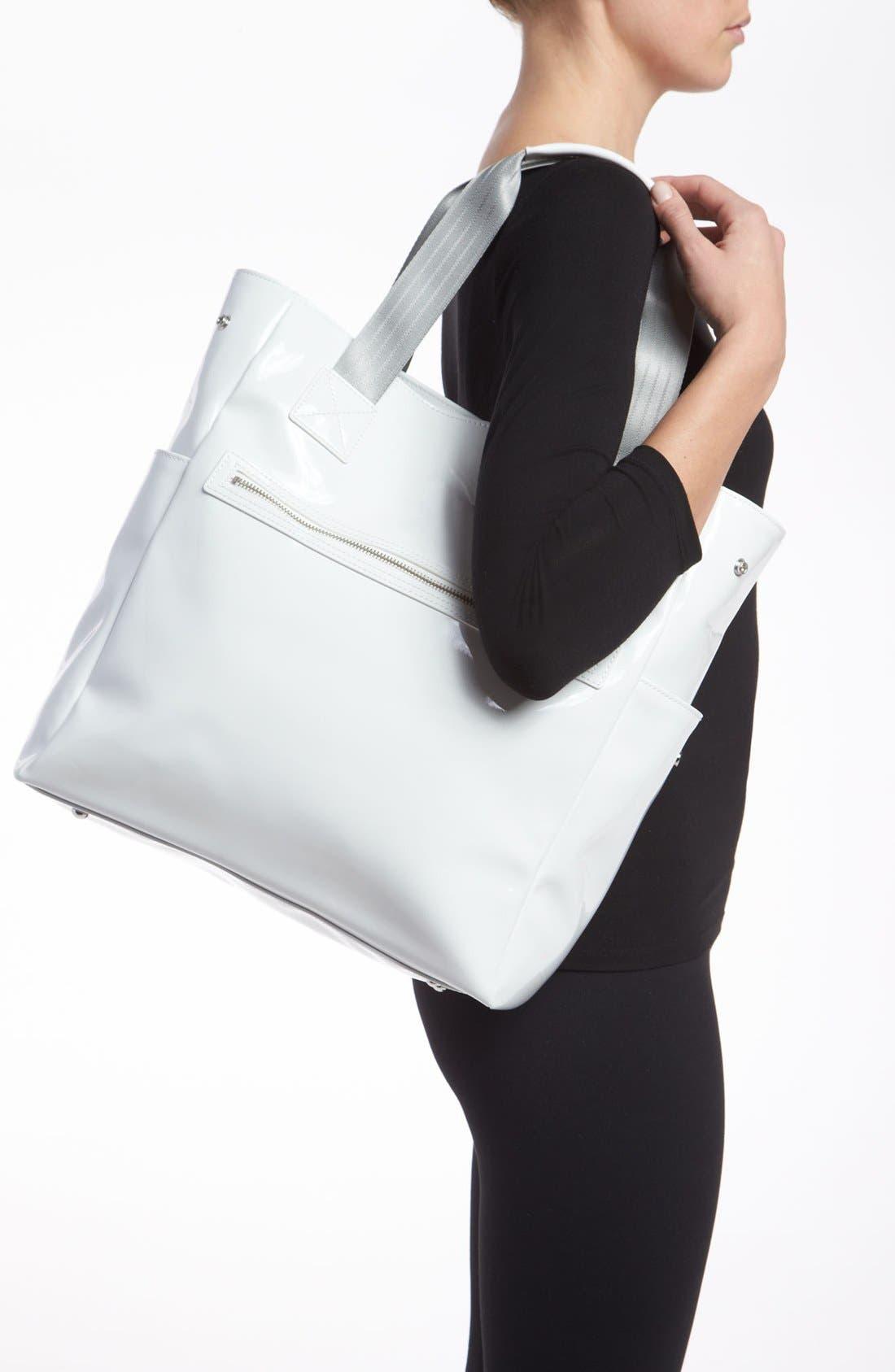 Alternate Image 2  - Armani Junior Patent Diaper Bag