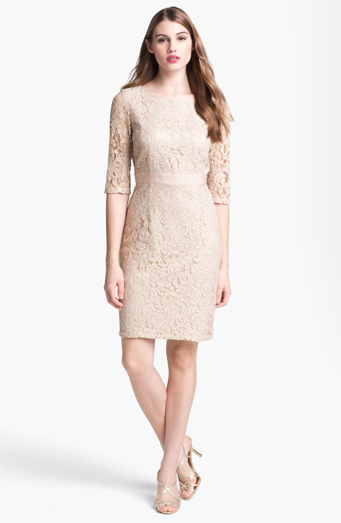 Alternate Image 1  - Eliza J Lace Sheath Dress
