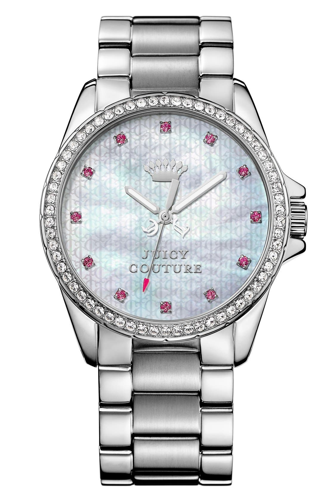 Alternate Image 1 Selected - Juicy Couture 'Stella' Crystal Bezel Watch, 40mm