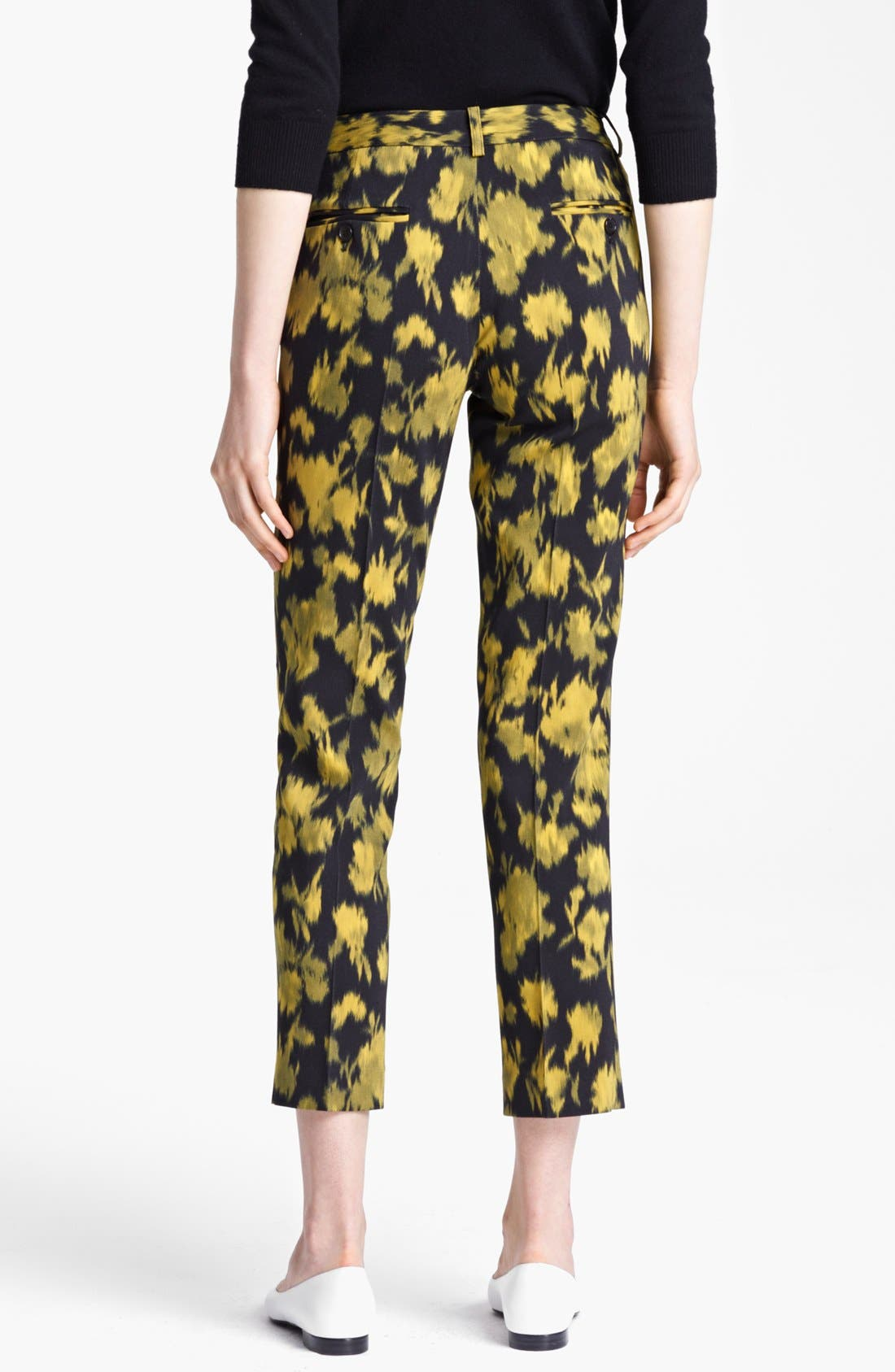 Alternate Image 2  - Michael Kors 'Samantha' Print Skinny Stretch Wool Pants