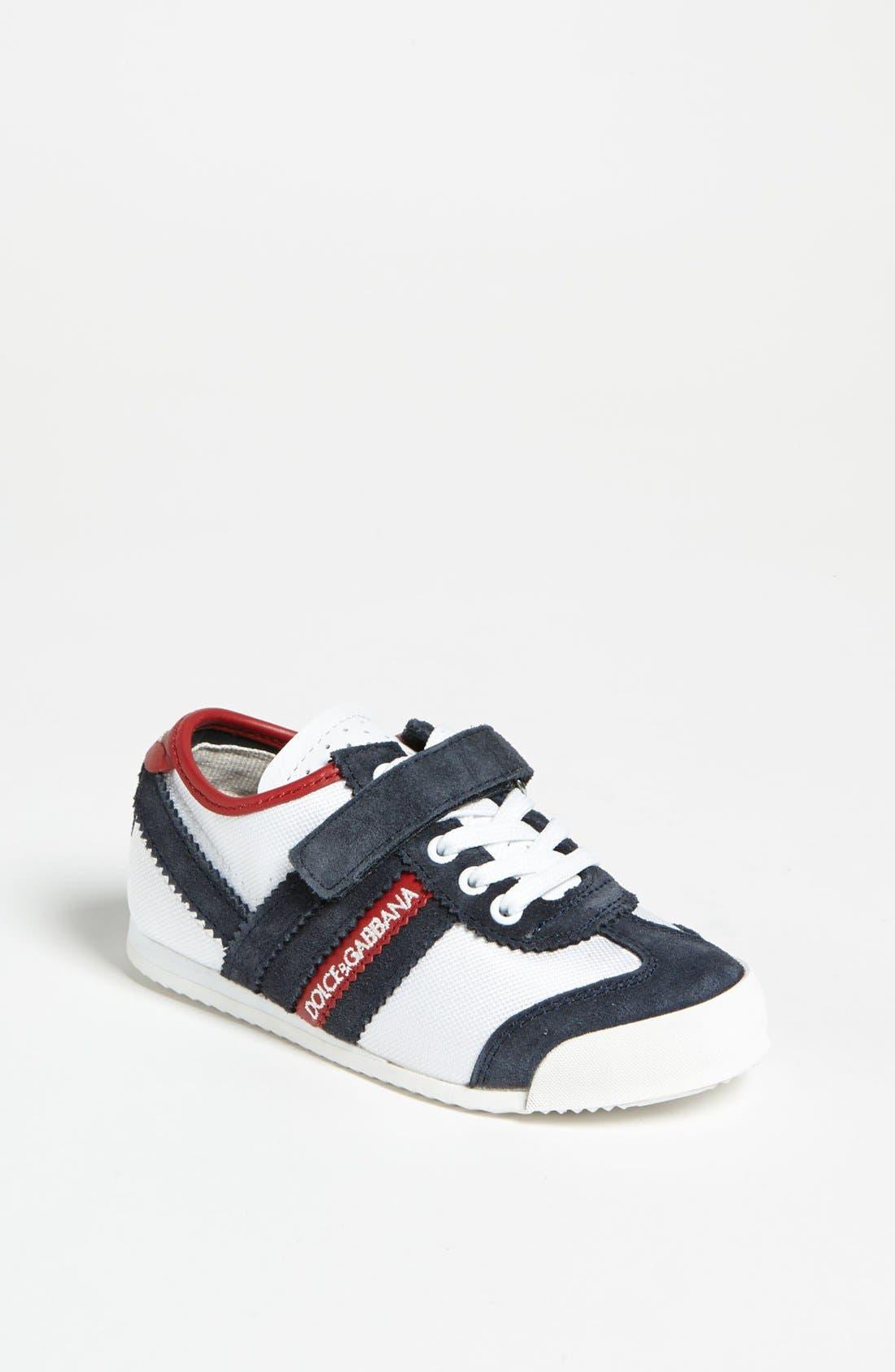 Alternate Image 1 Selected - Dolce&Gabbana Stripe Sneaker (Toddler)