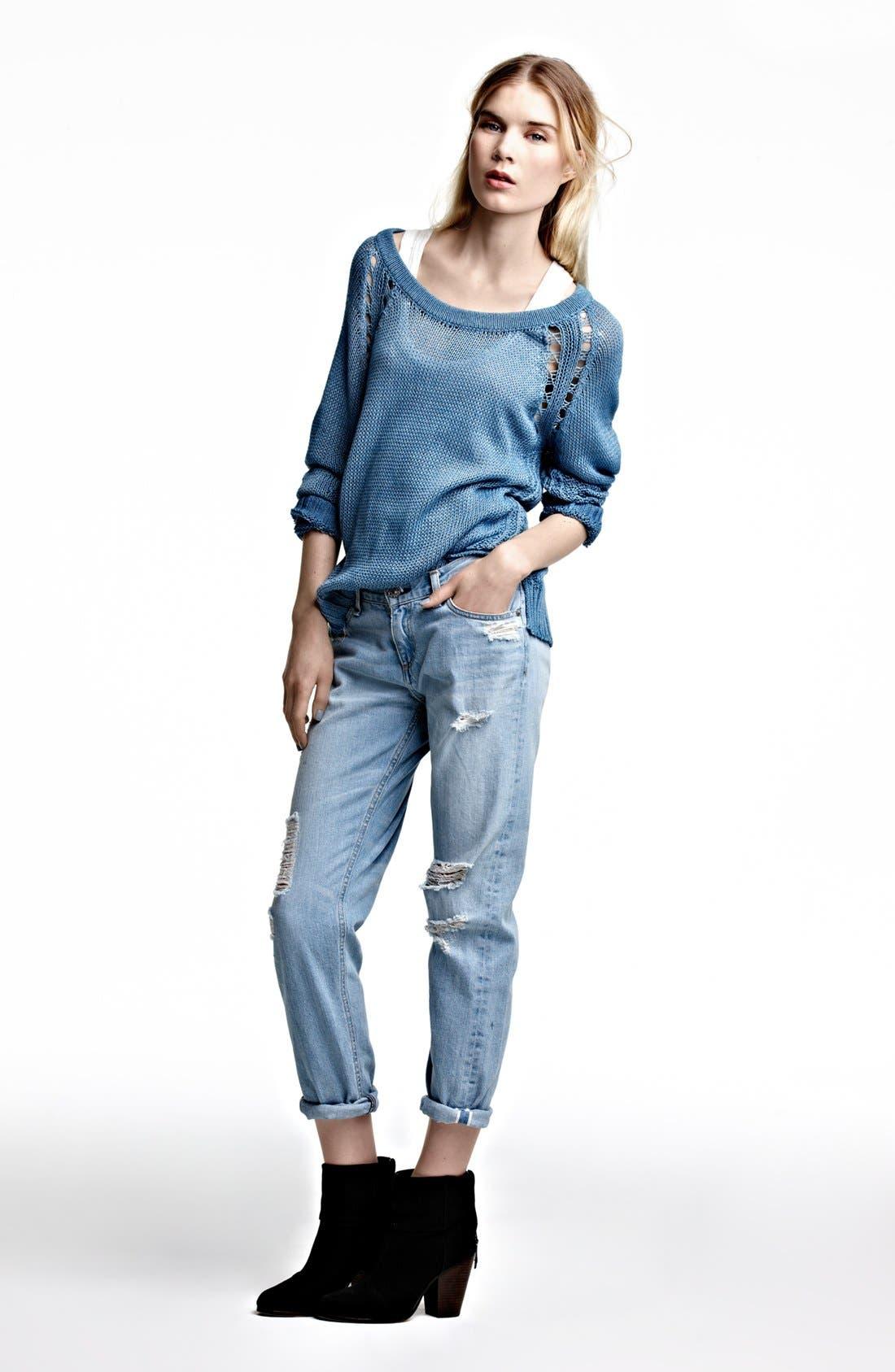 Alternate Image 8  - rag & bone/JEAN 'The Boyfriend' Selvedge Denim Jeans