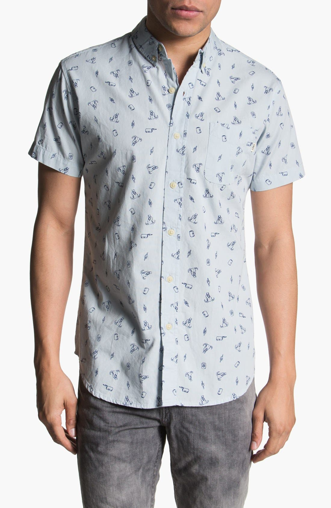 Alternate Image 1 Selected - Obey 'Crossroads' Print Woven Shirt