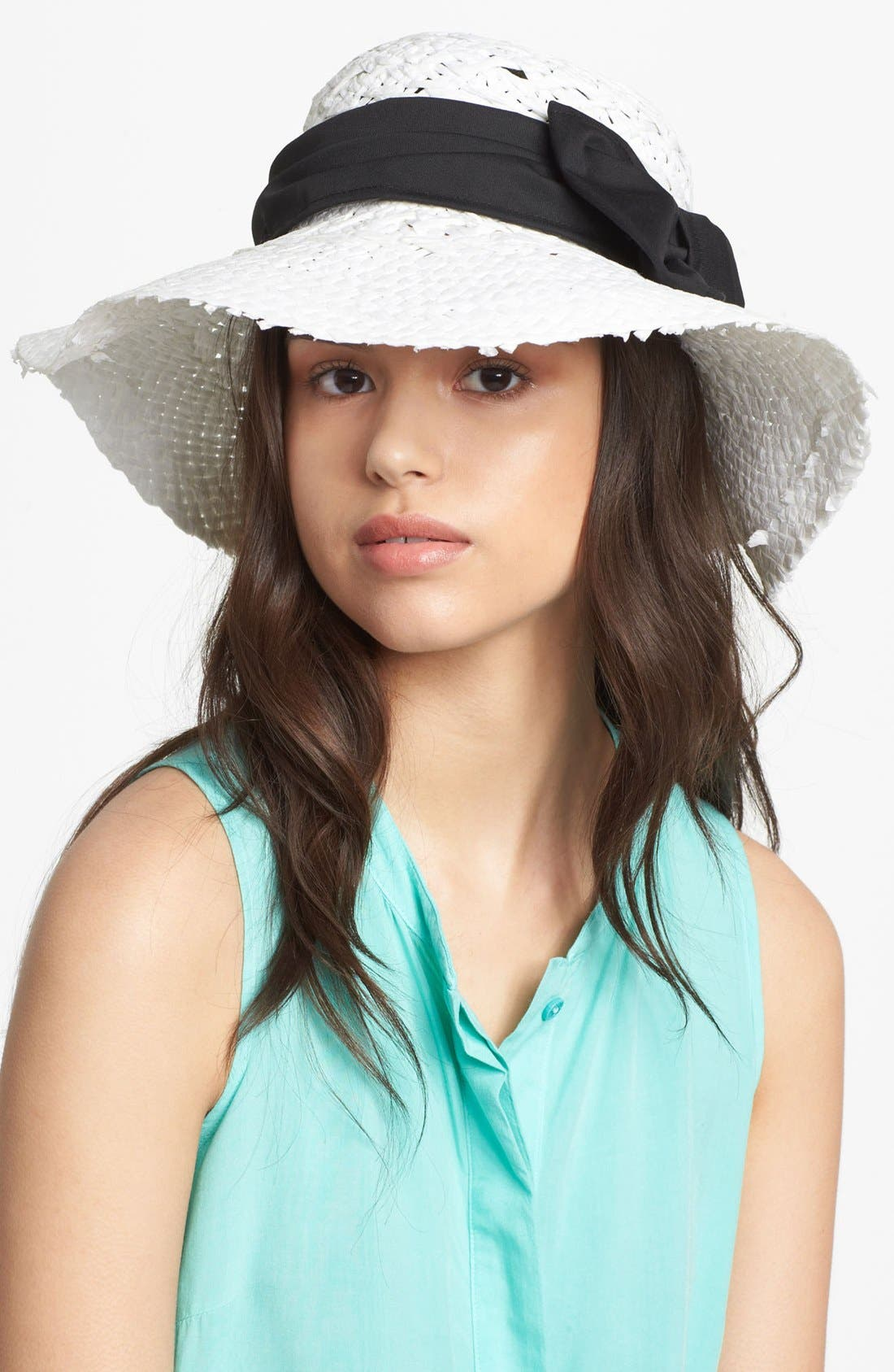 Alternate Image 1 Selected - Nordstrom Straight Brim Straw Hat