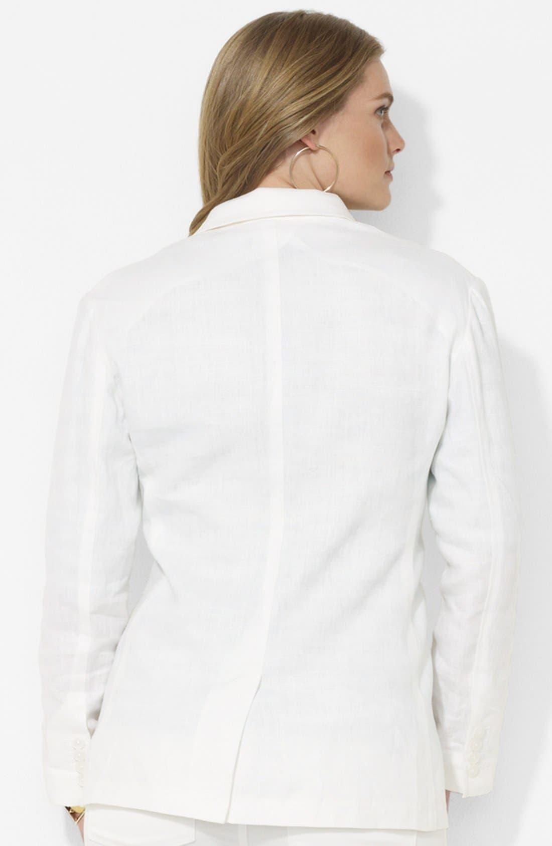 Alternate Image 2  - Lauren Ralph Lauren Boyfriend Jacket (Plus Size)