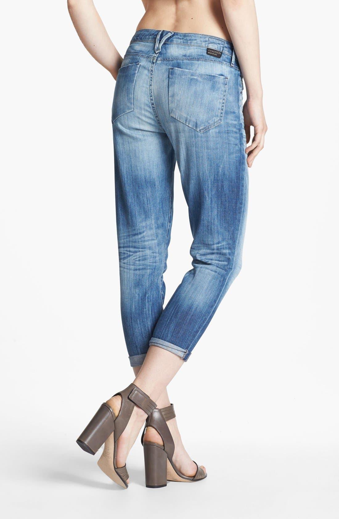 Alternate Image 2  - Goldsign 'Glam' Skinny Crop Jeans (Tatiana)