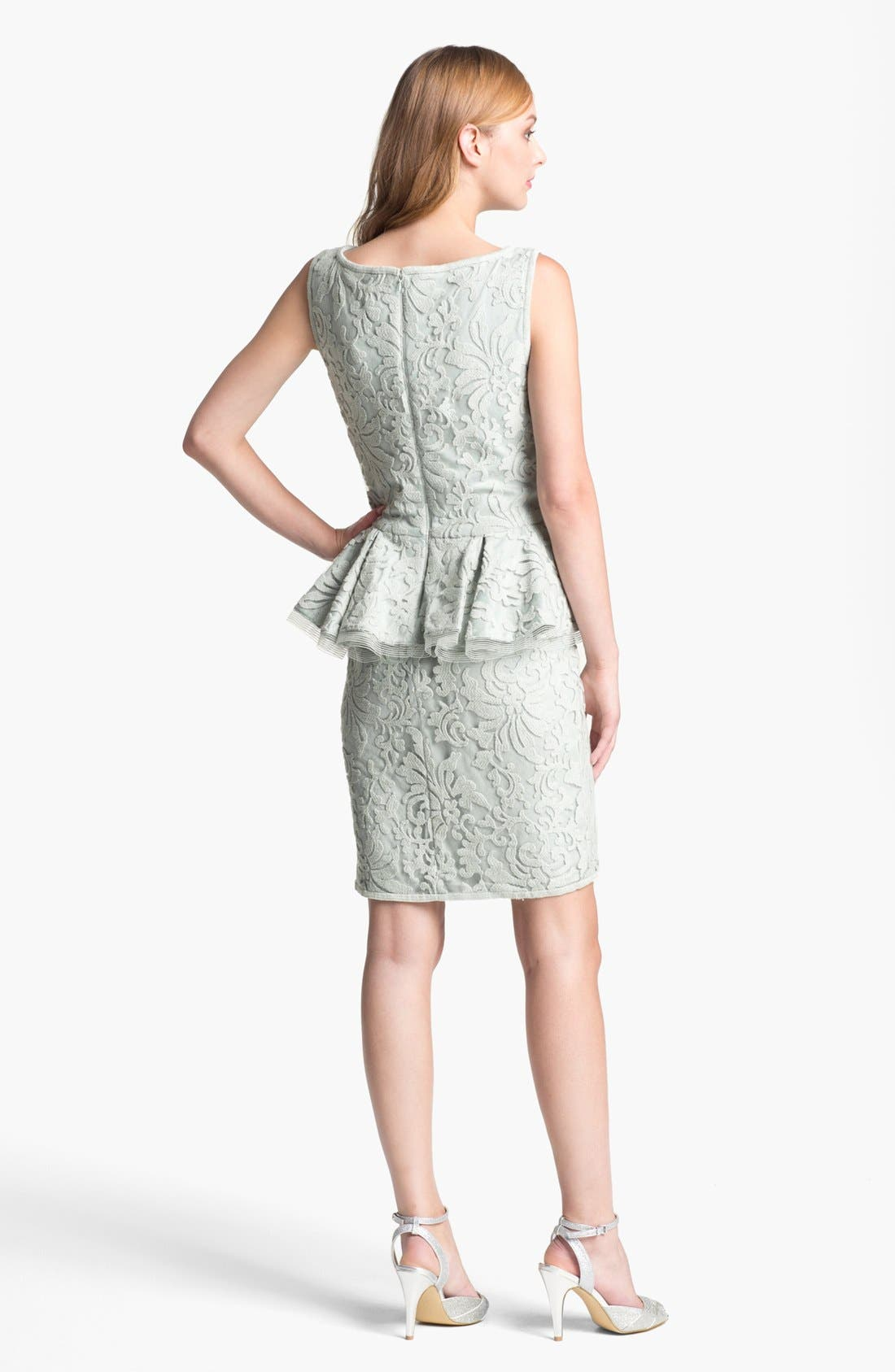 Alternate Image 2  - Tadashi Shoji Textured Lace Peplum Dress