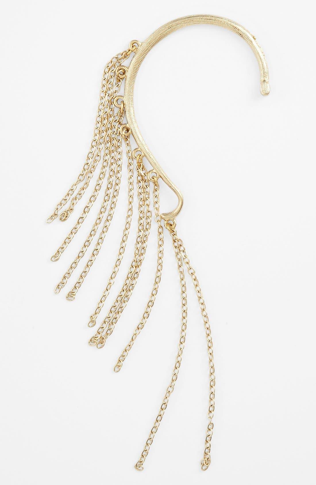 Alternate Image 1 Selected - Rachel Chain Fringe Ear Cuff