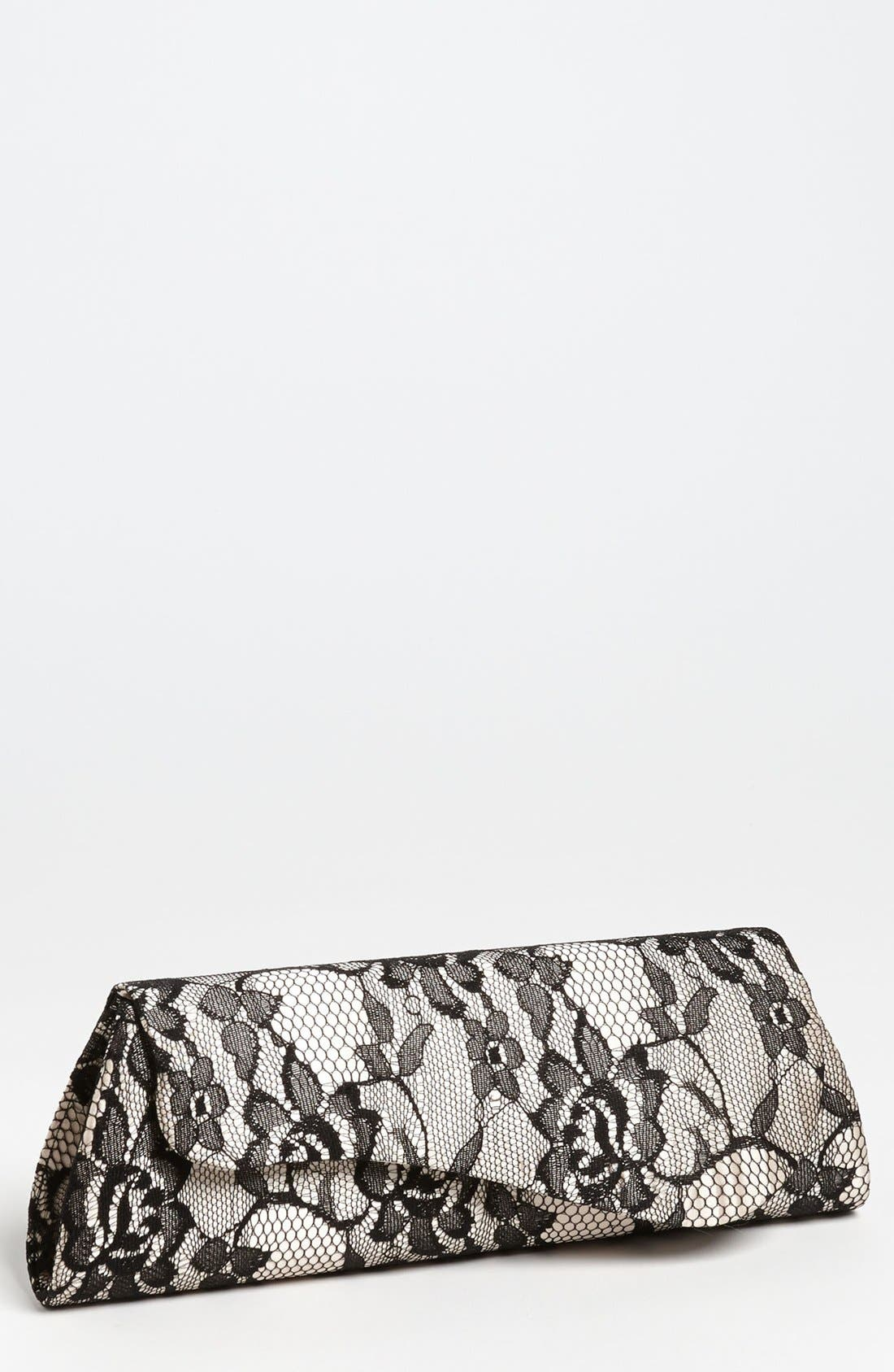 Main Image - Jessica McClintock Lace Envelope Clutch