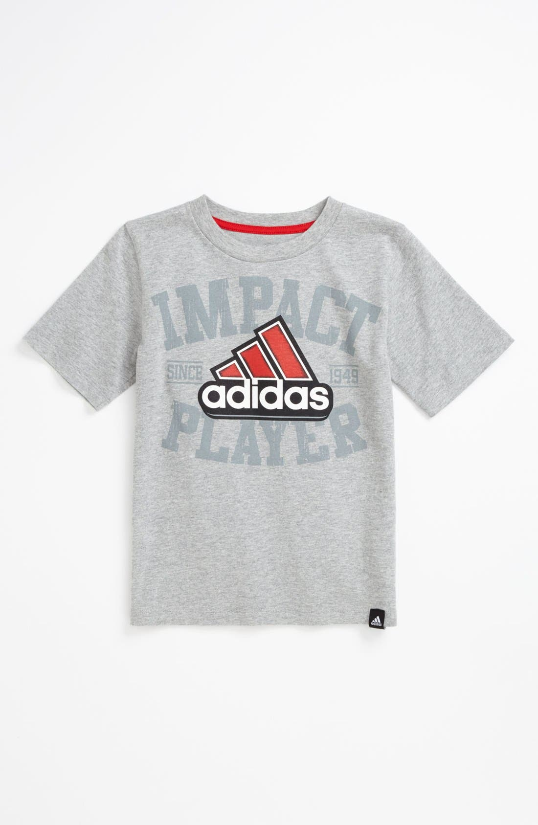 Alternate Image 1 Selected - adidas 'Impact' T-Shirt (Little Boys)