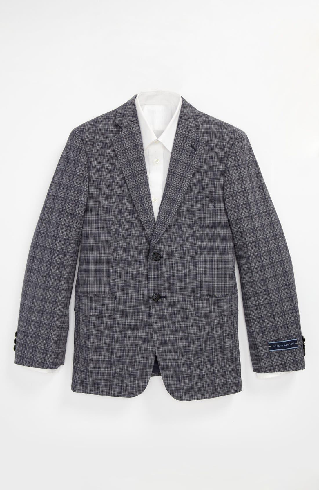 Alternate Image 1 Selected - Joseph Abboud Plaid Sportcoat (Big Boys)