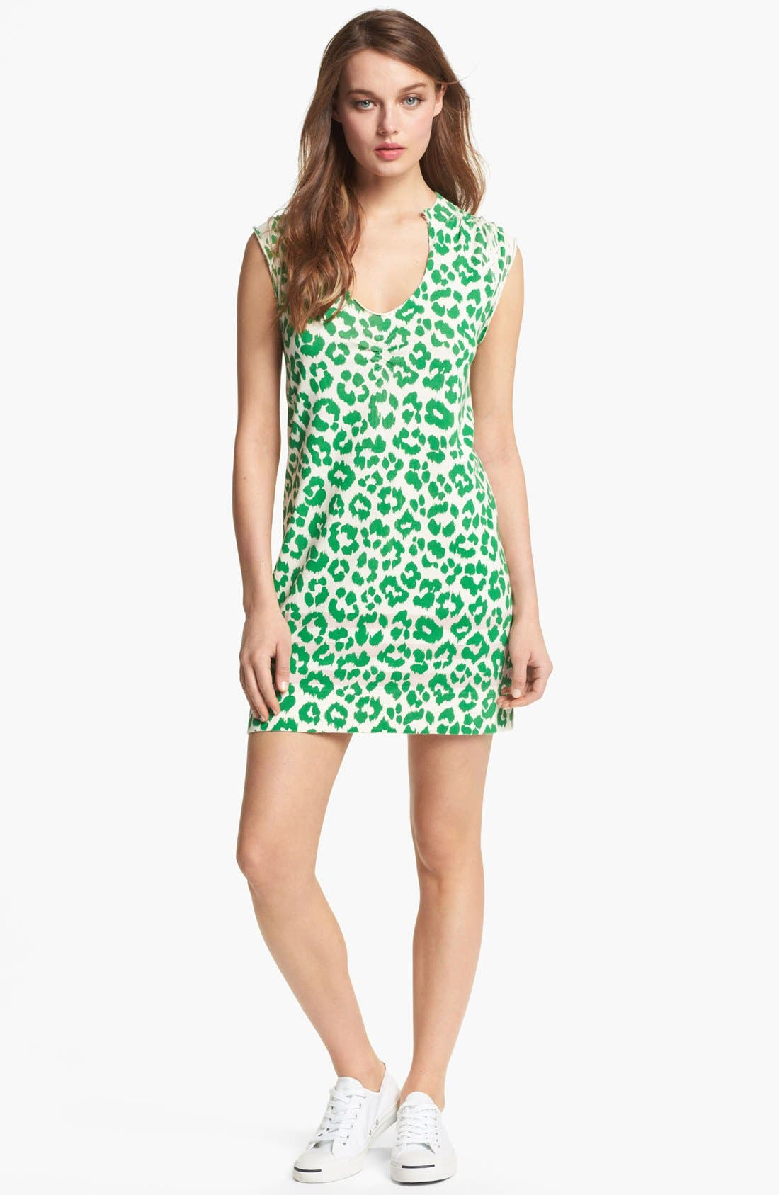Alternate Image 1 Selected - MARC BY MARC JACOBS 'Dita the Cheetah' Pima Cotton Shift Dress