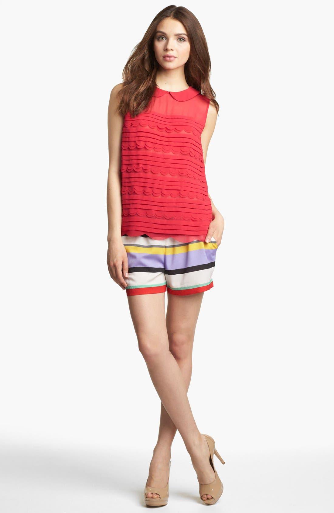 Alternate Image 1 Selected - Kensie Stripe Drawstring Shorts