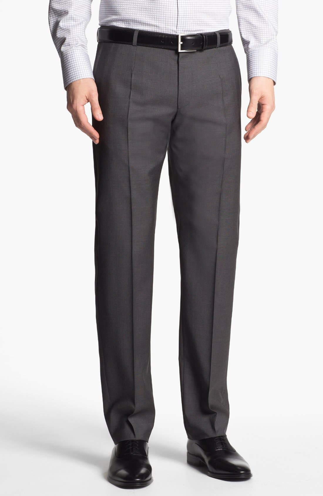 Alternate Image 5  - HUGO 'Amaro/Heise' Trim Fit Wool Suit