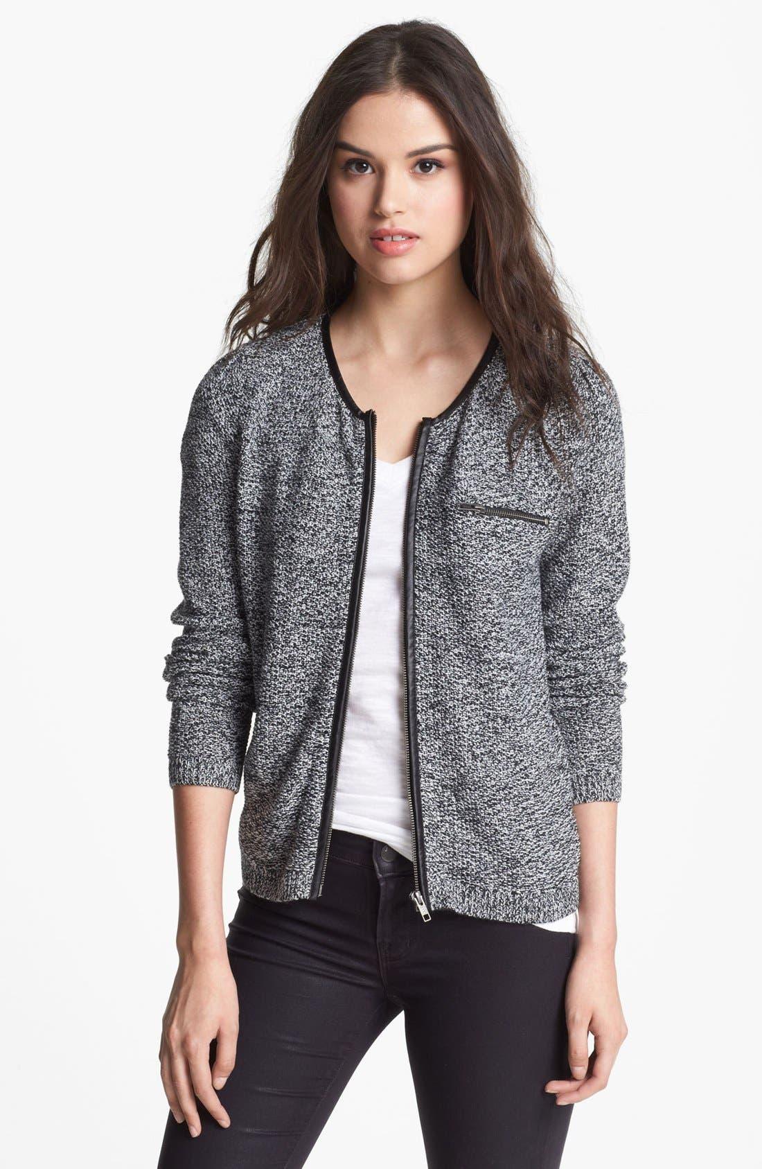Main Image - Trouvé Marled Baseball Sweater
