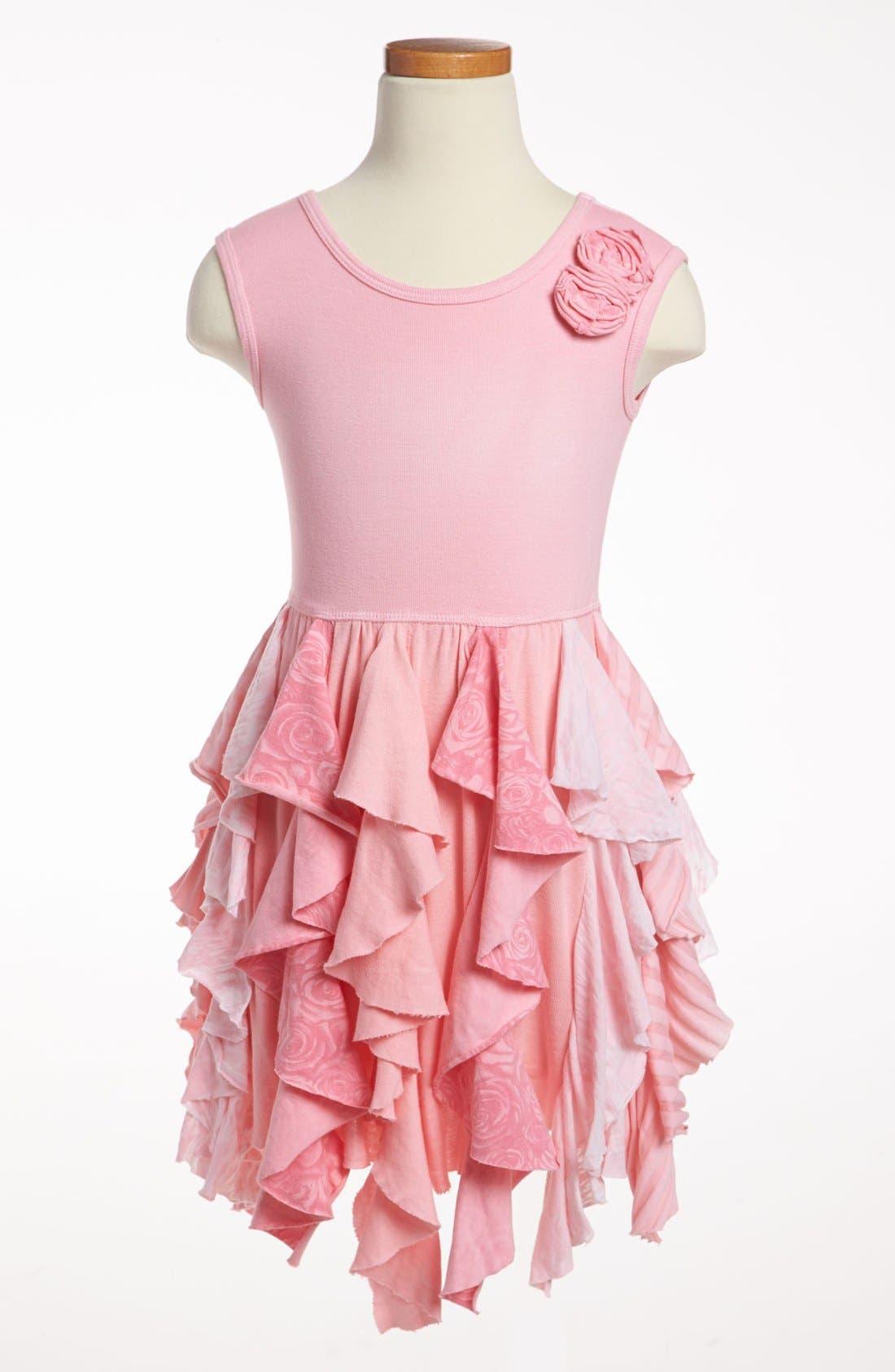 Main Image - Mignone Ruffle Skirt Dress (Little Girls & Big Girls)
