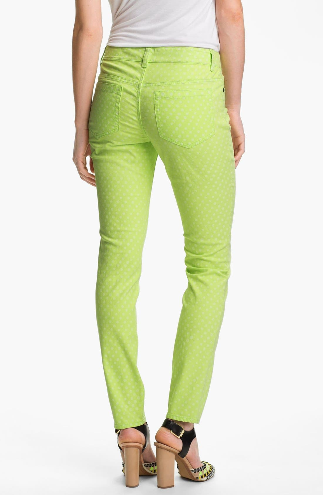 Alternate Image 2  - Two by Vince Camuto Polka Dot Straight Leg Jeans