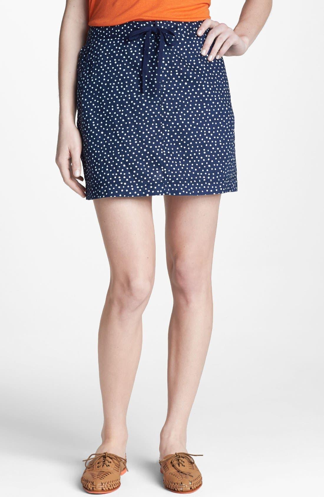 Alternate Image 1 Selected - Caslon® Drawstring Linen Skirt