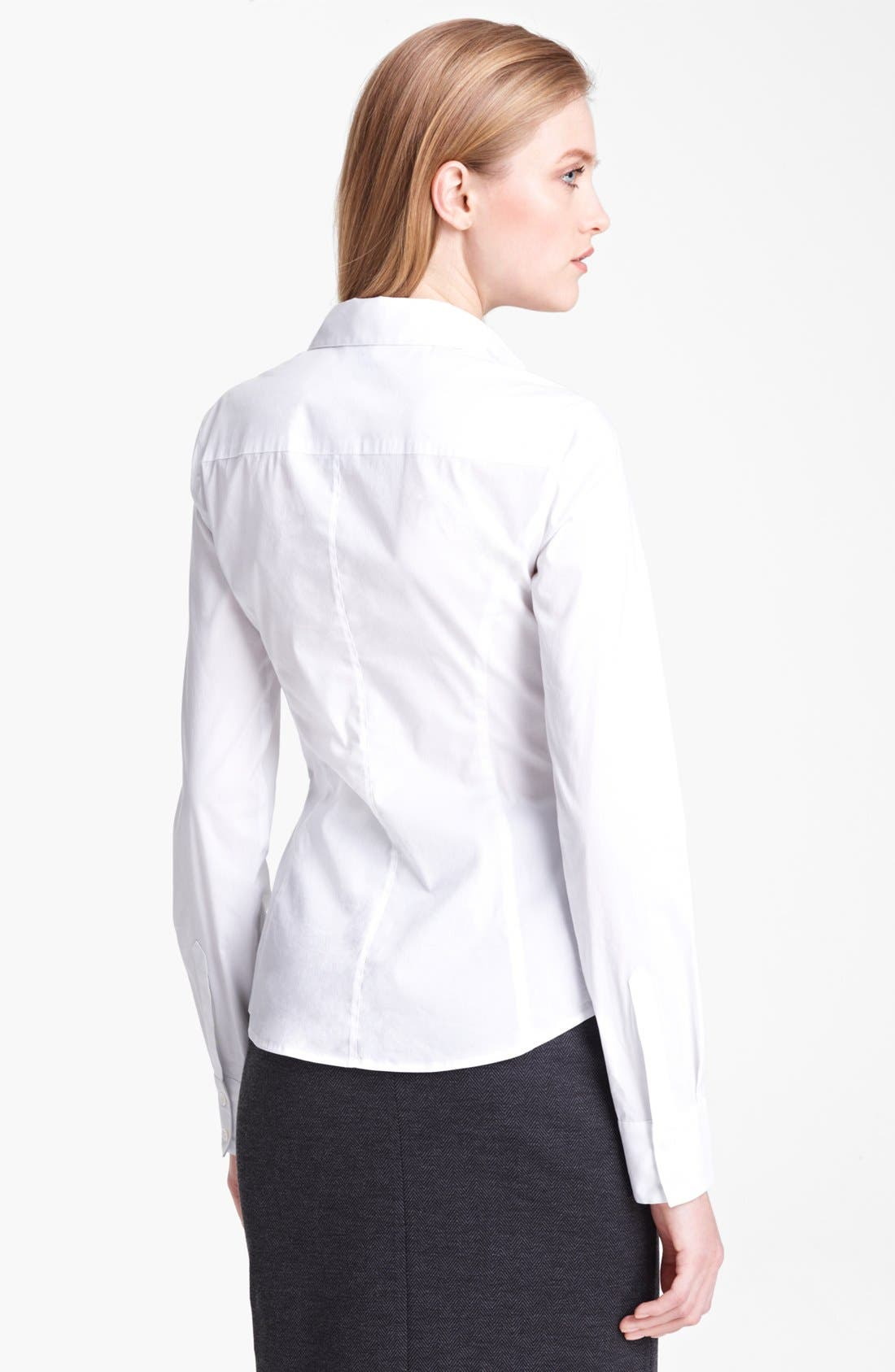 Alternate Image 2  - Armani Collezioni Ruched Front Blouse